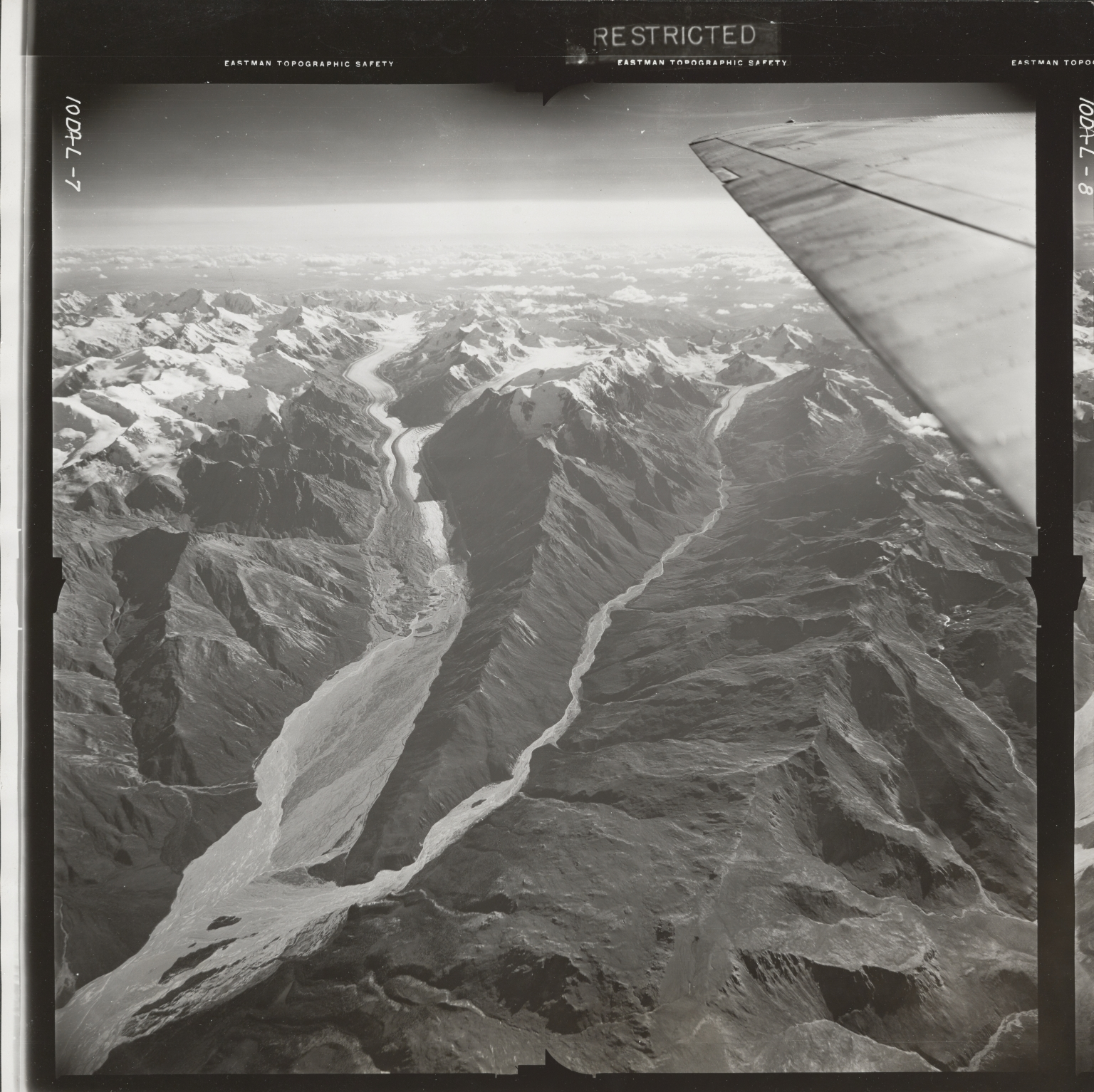 Gerstle River, aerial photograph FL 20 L-7, Alaska