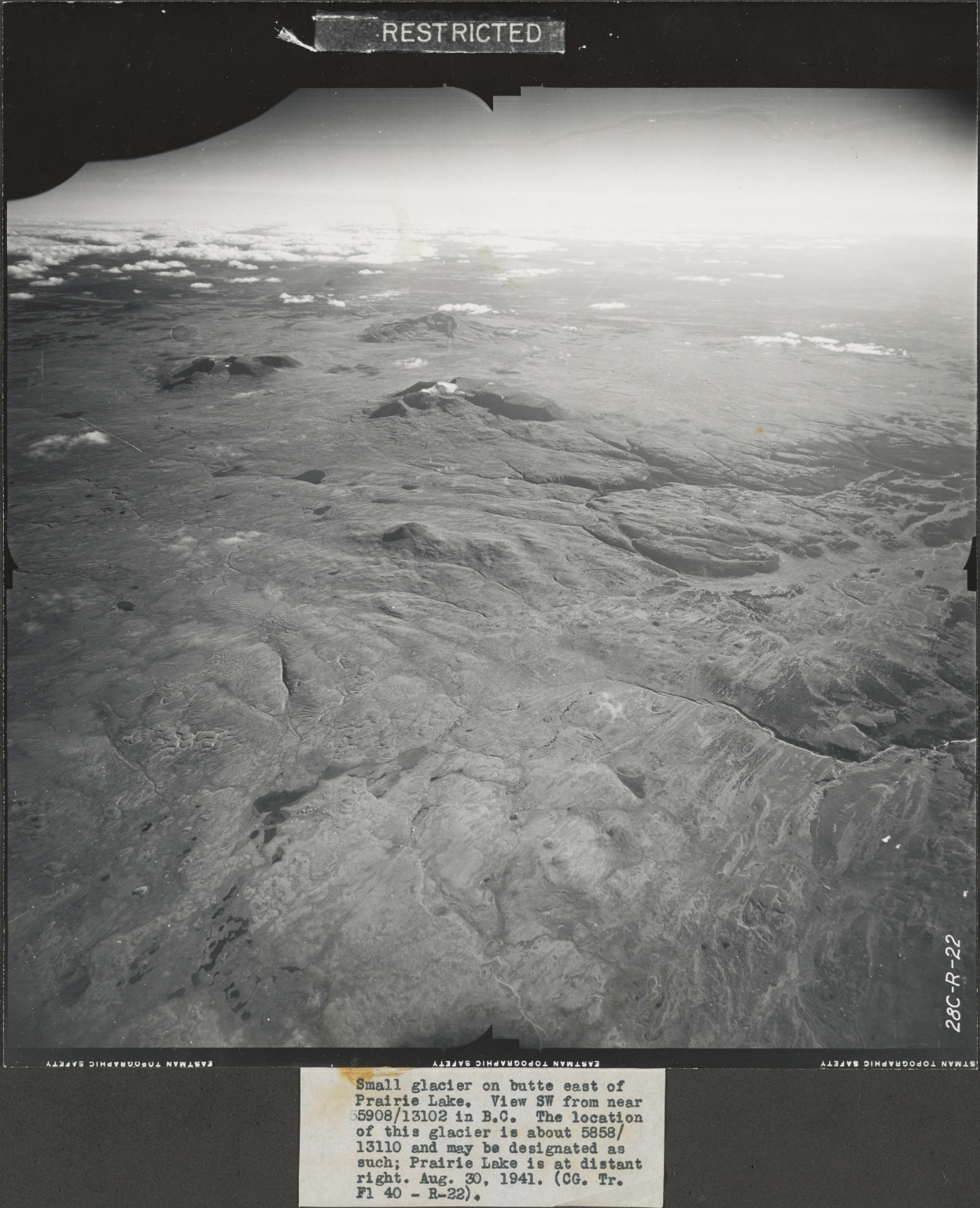 Prairie Lake, aerial photograph FL 40 R-22, British Columbia