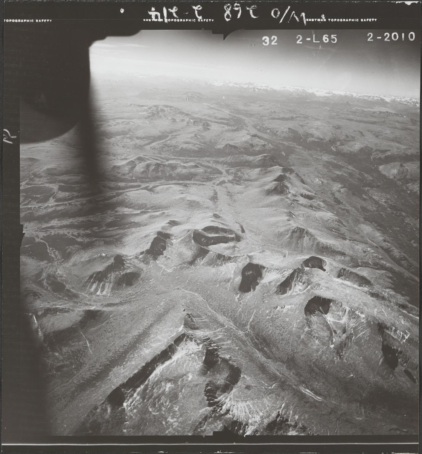 Trout Lake, aerial photograph FL 47 L-65, British Columbia