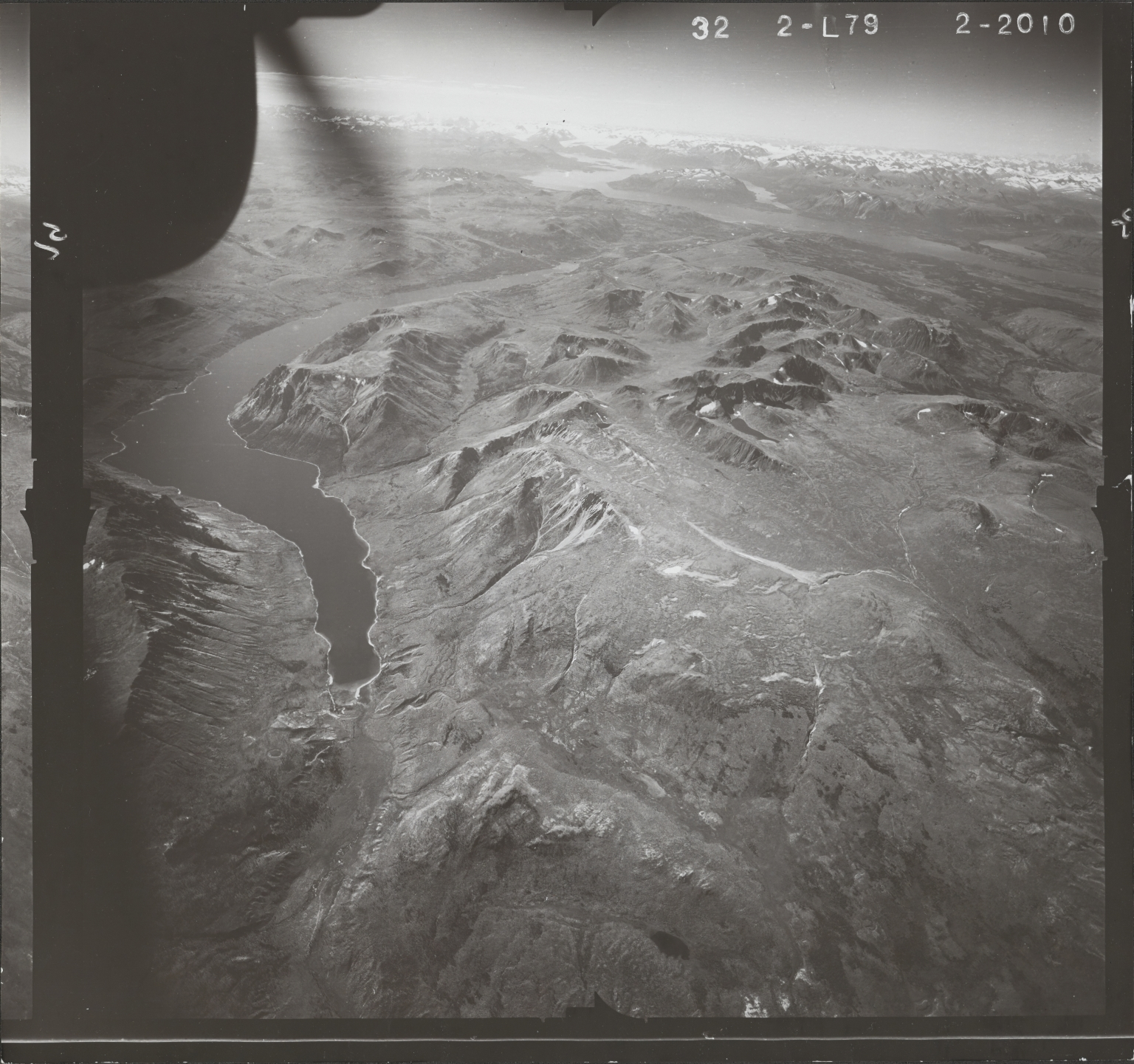 Surprise Lake, aerial photograph FL 47 L-79, British Columbia