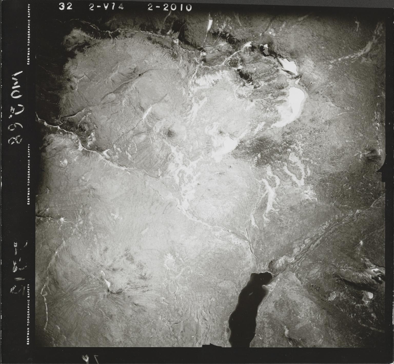 Gladys Lake, aerial photograph FL 47 V-74, British Columbia