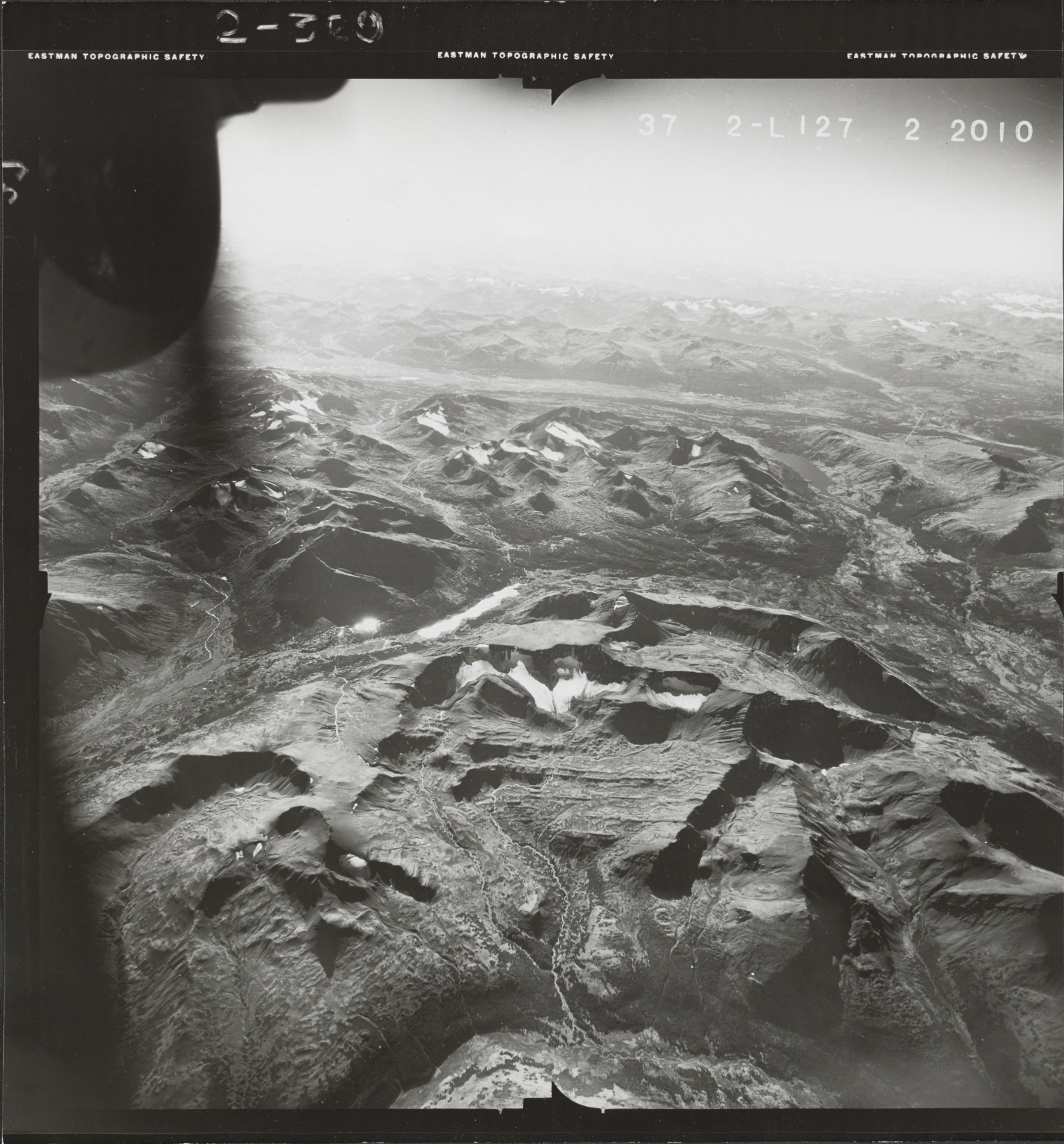 Klappan Range, aerial photograph FL 49 L-127, British Columbia
