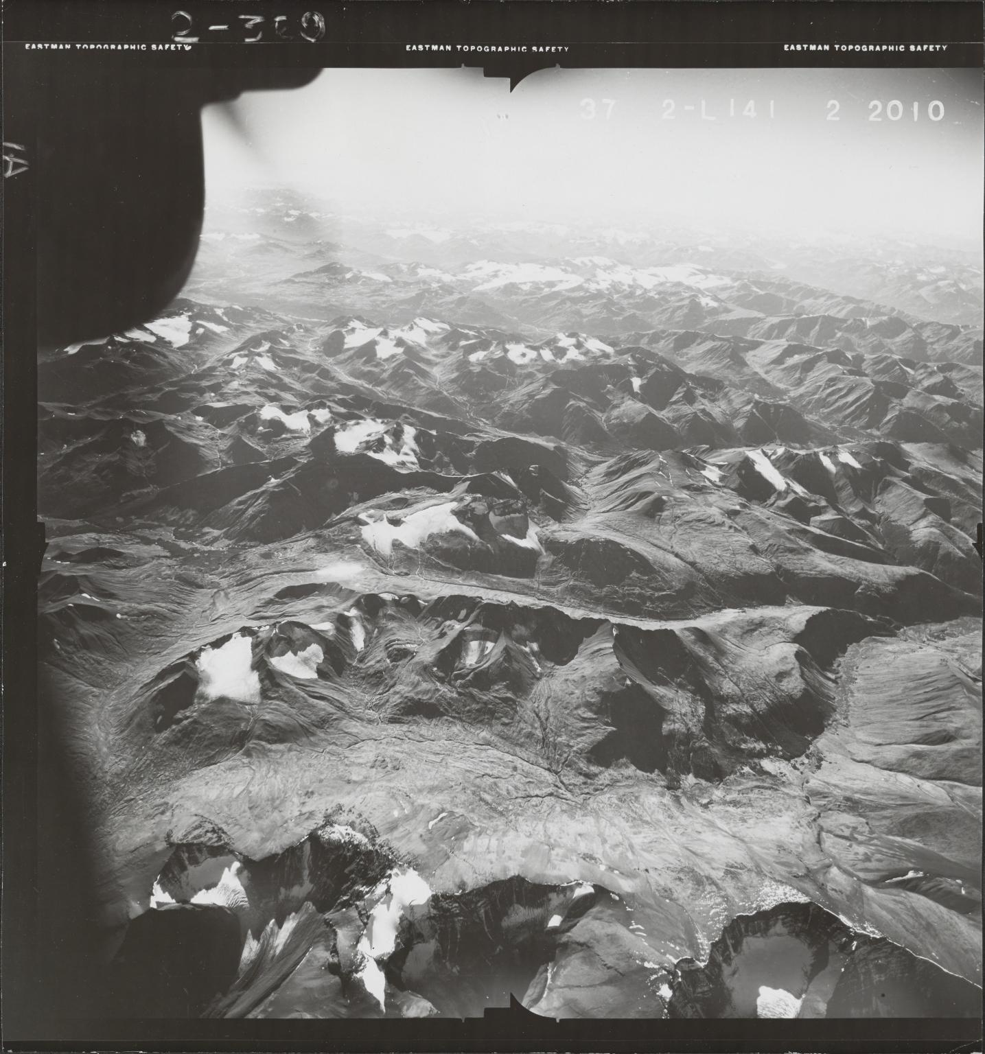 Klappan Range, aerial photograph FL 49 L-141, British Columbia