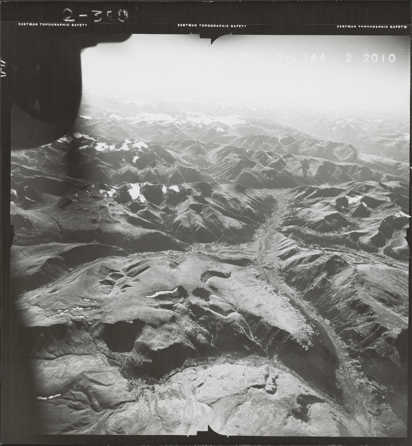 Klappan Range, aerial photograph FL 49 L-144, British Columbia