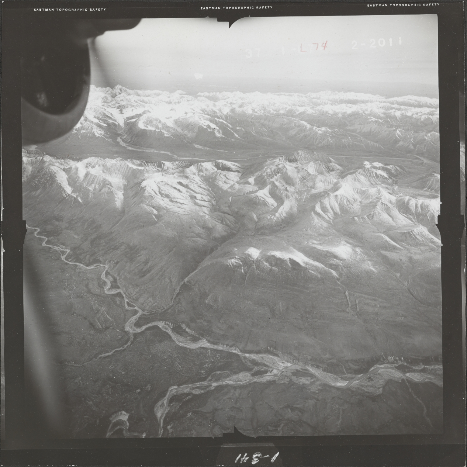 Alaska Range, aerial photograph FL 68 L-74, Alaska