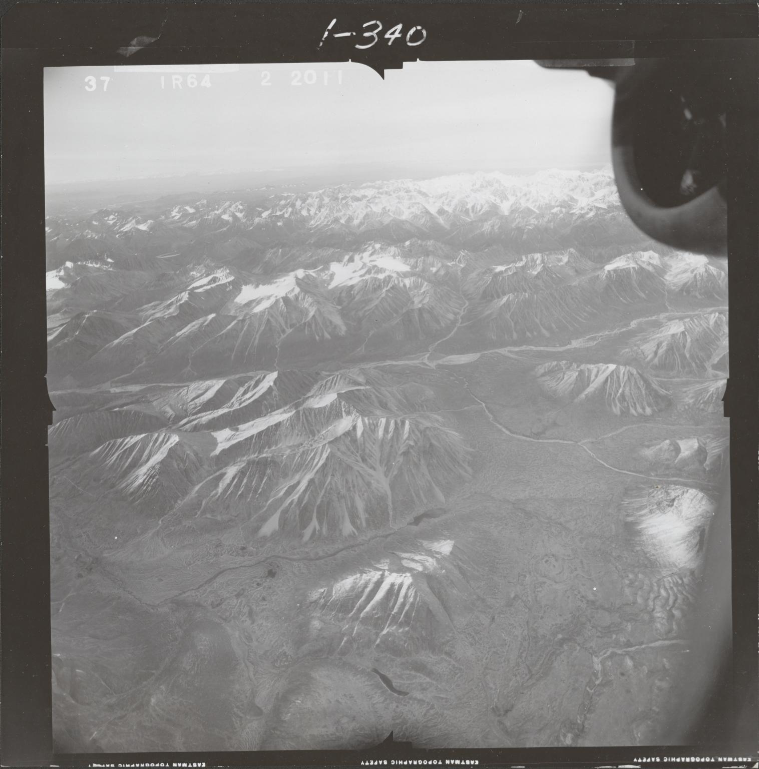 Northwest of Mount Gerdine, aerial photograph FL 68 R-64, Alaska