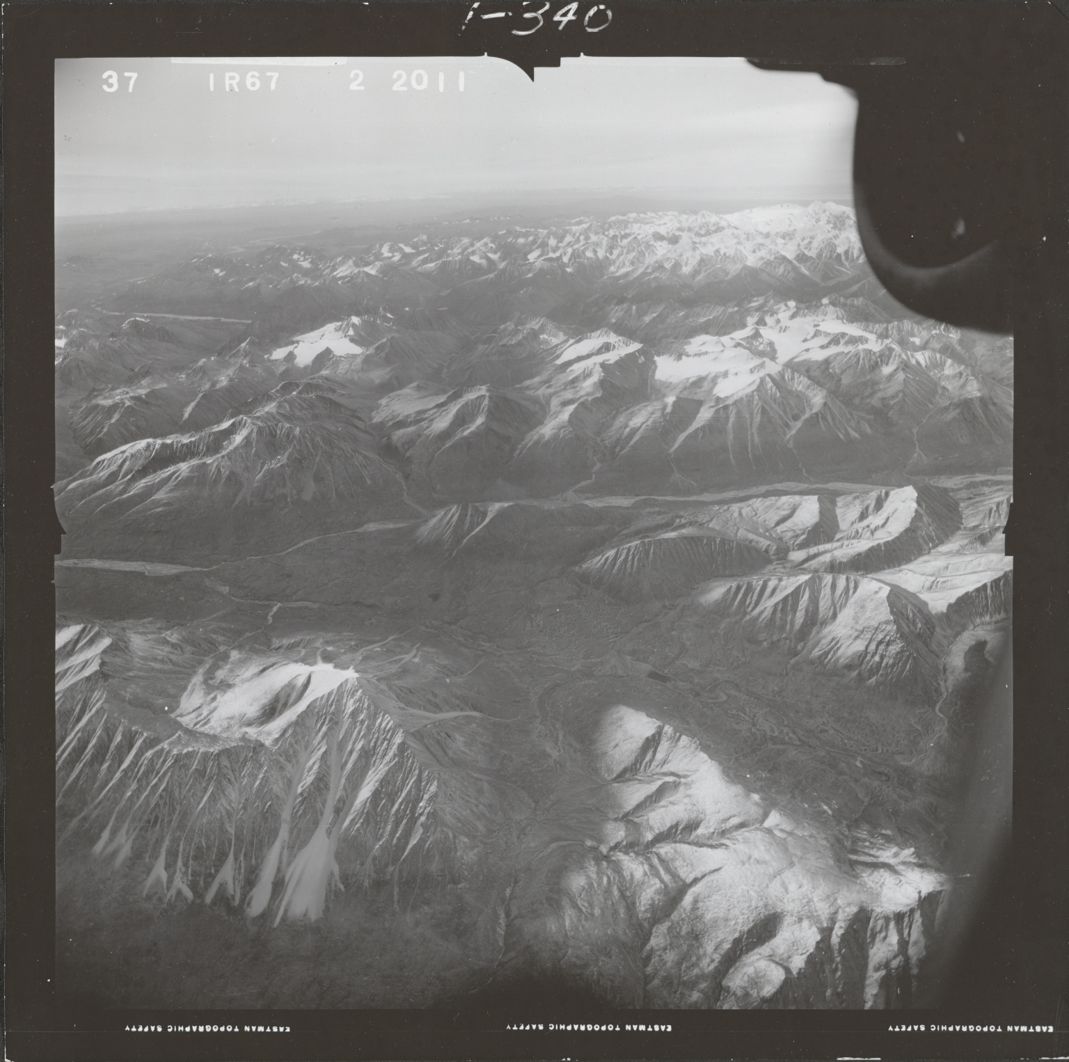 Northwest of Mount Gerdine, aerial photograph FL 68 R-67, Alaska