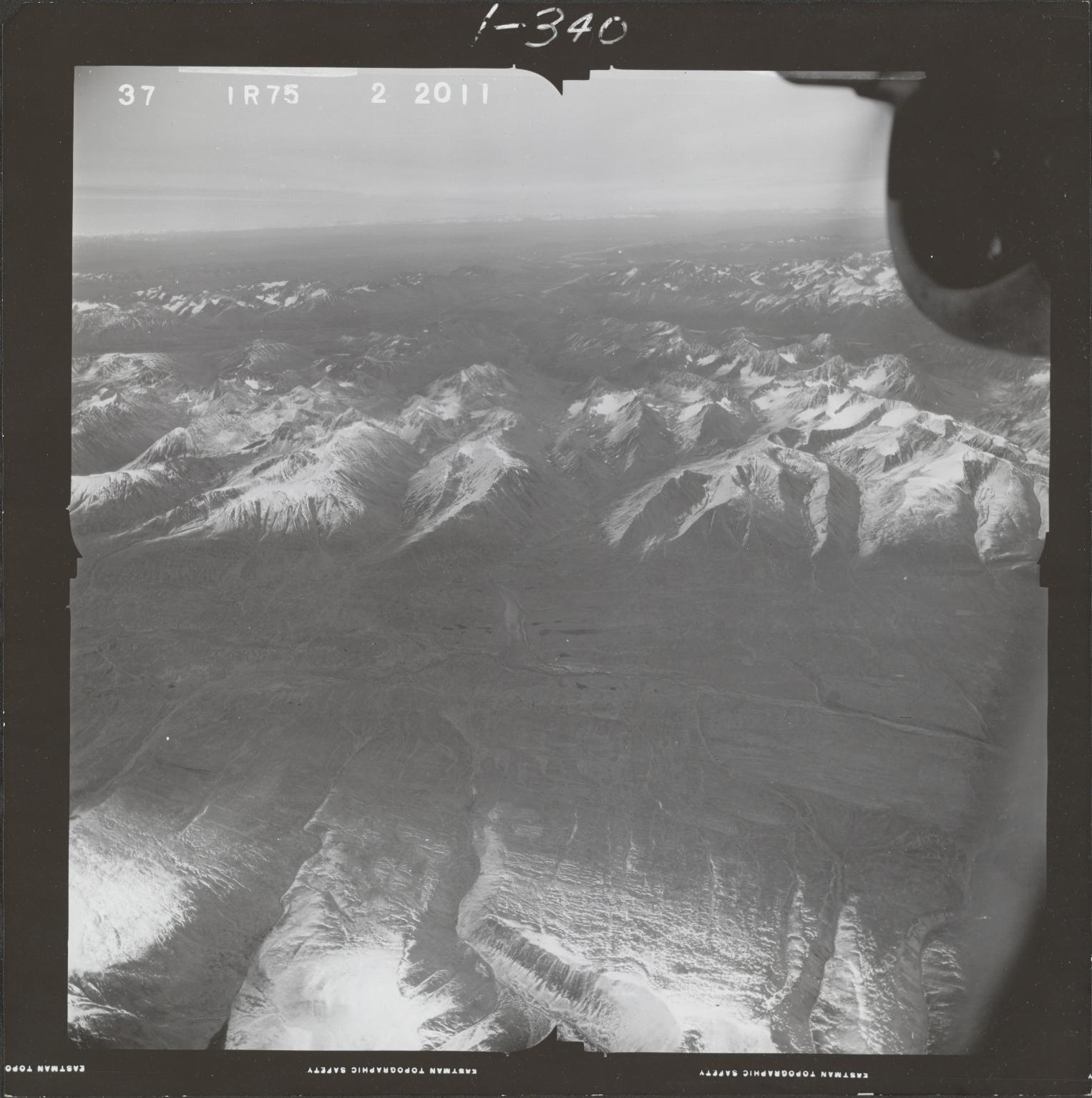 Skwentna and Kuskokwim Rivers, aerial photograph FL 68 R-75, Alaska