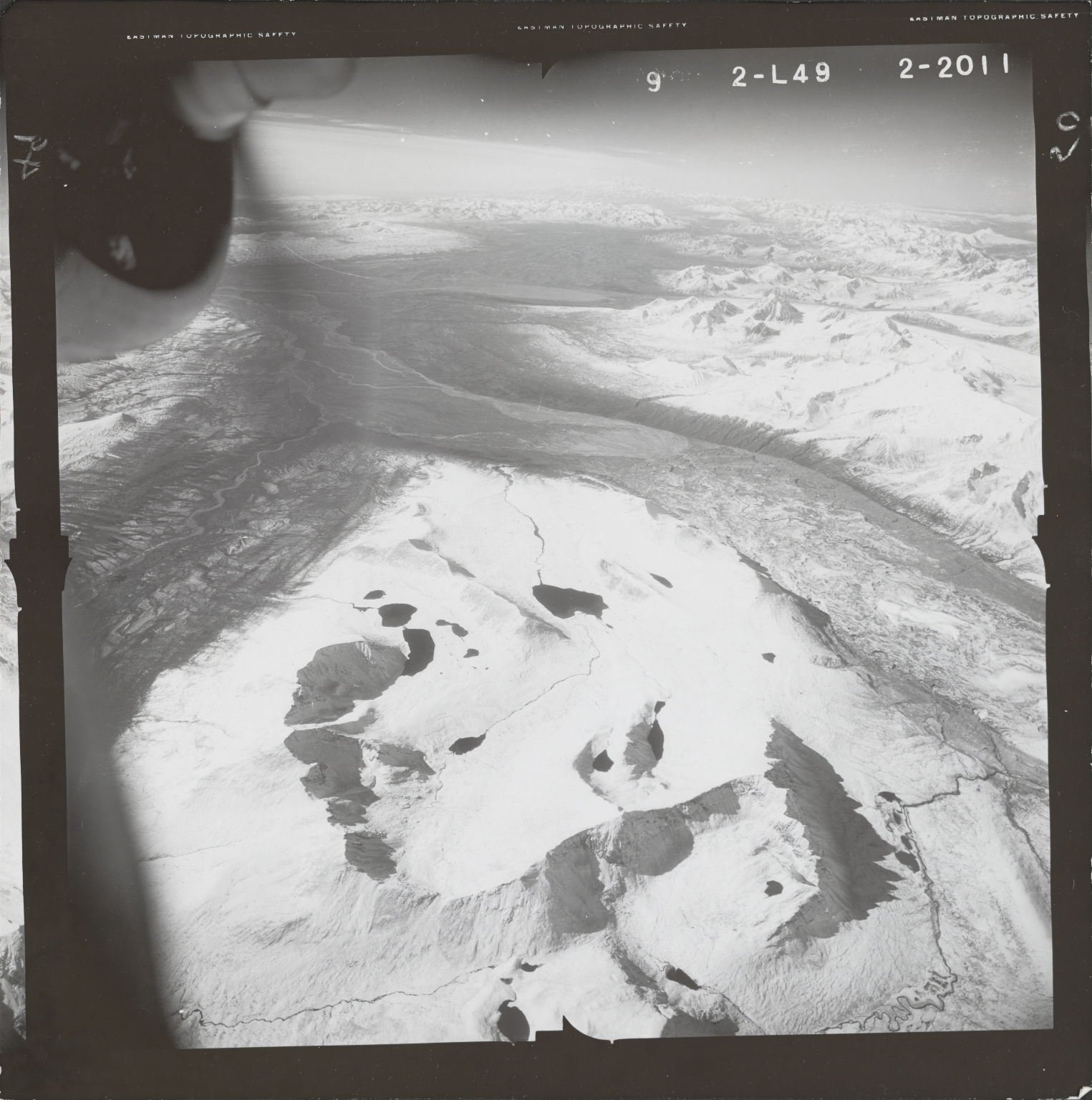 Susitna Glacier, aerial photograph FL 80 L-49, Alaska