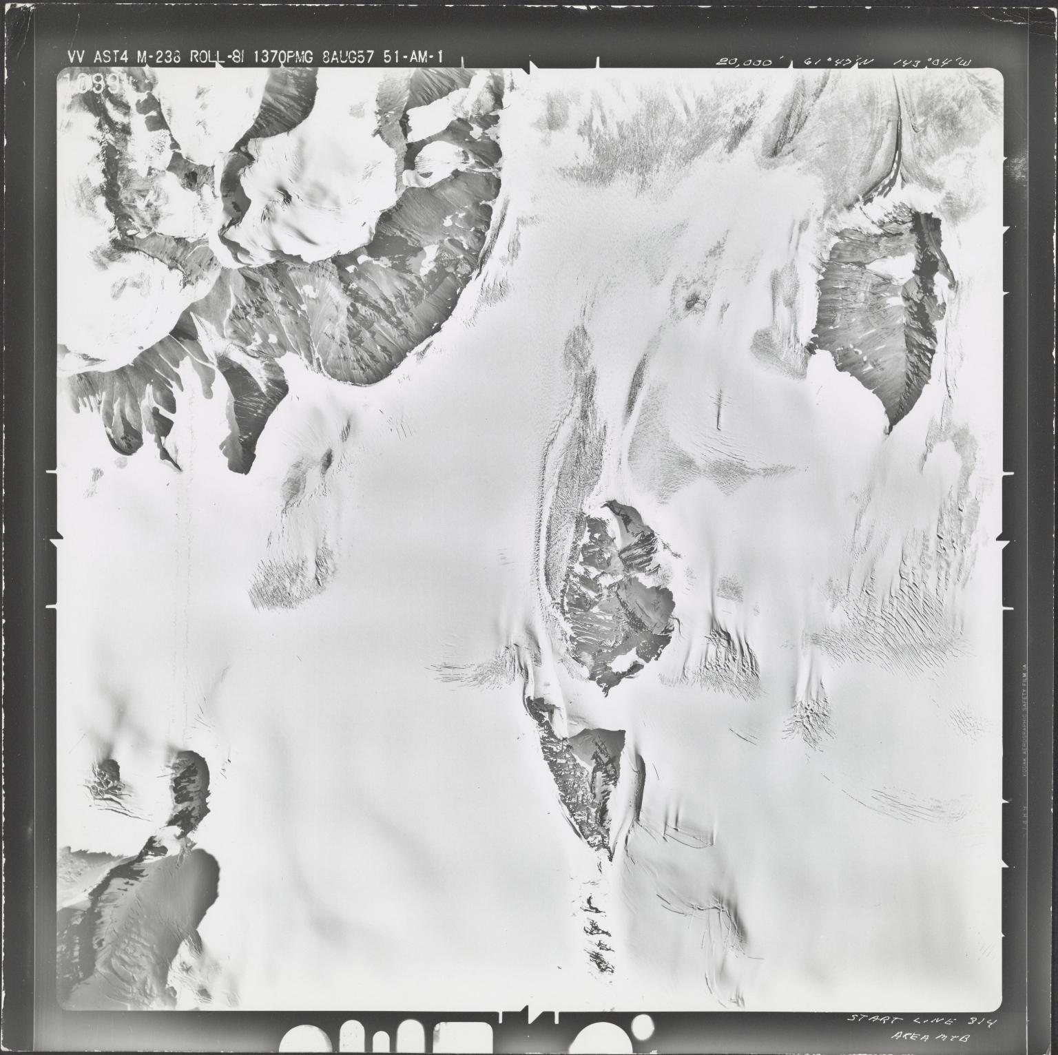 Nabesna Glacier, aerial photograph M 238 10994, Alaska