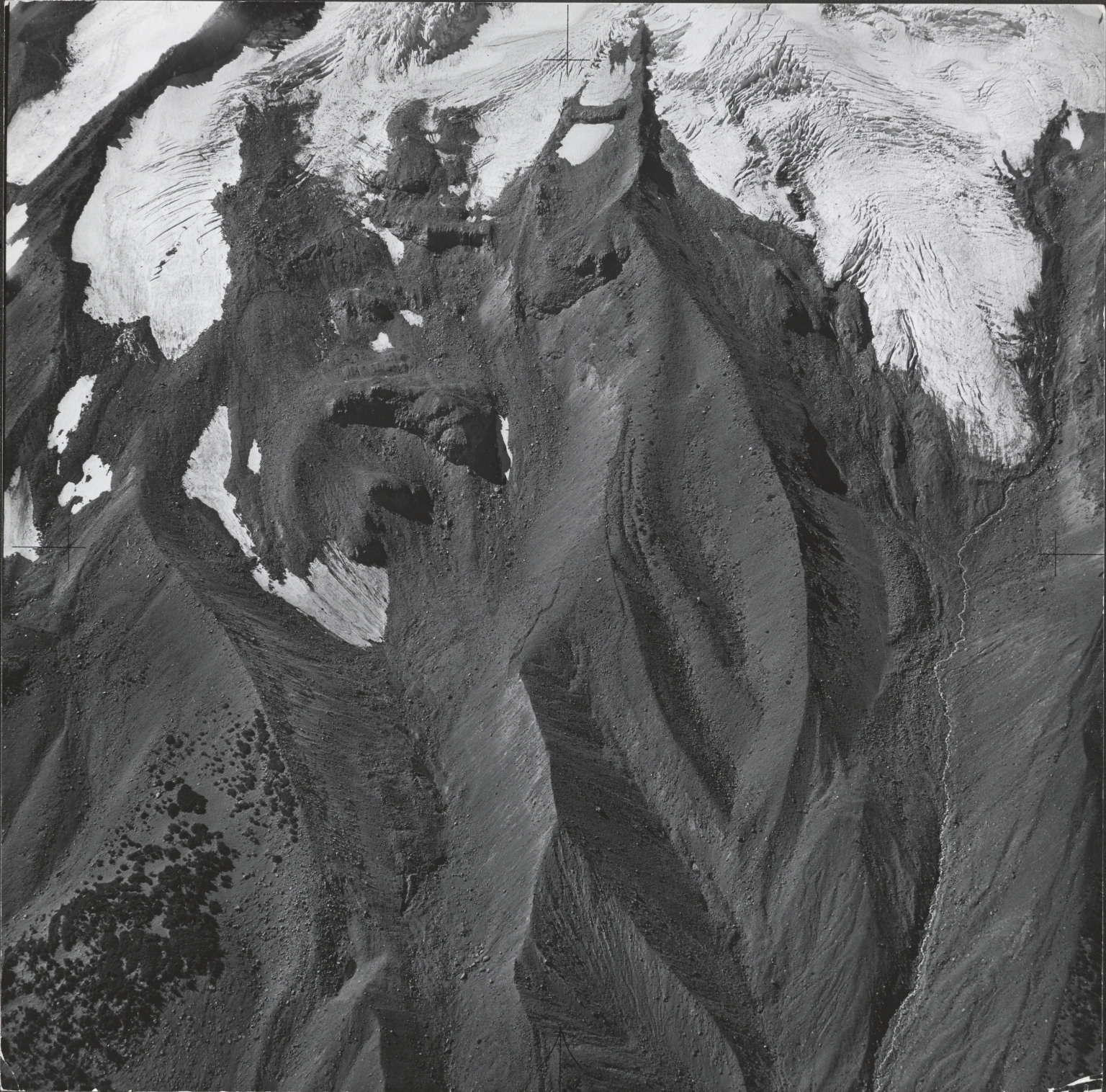 Whitewater Glacier, aerial photograph roll no. 21 exposure no. 38, Oregon