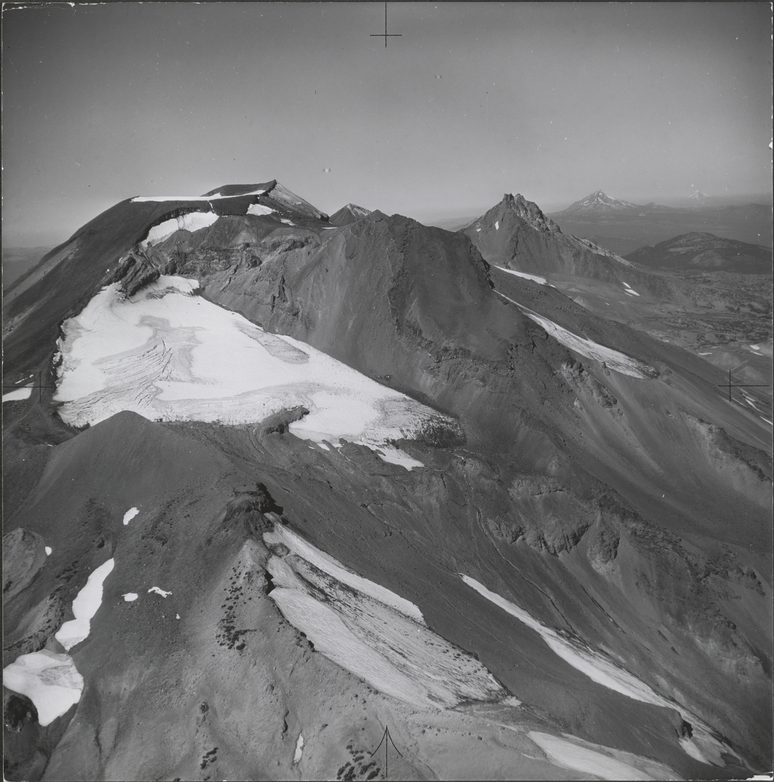 Lewis Glacier, aerial photograph roll no. 21 exposure no. 81, Oregon