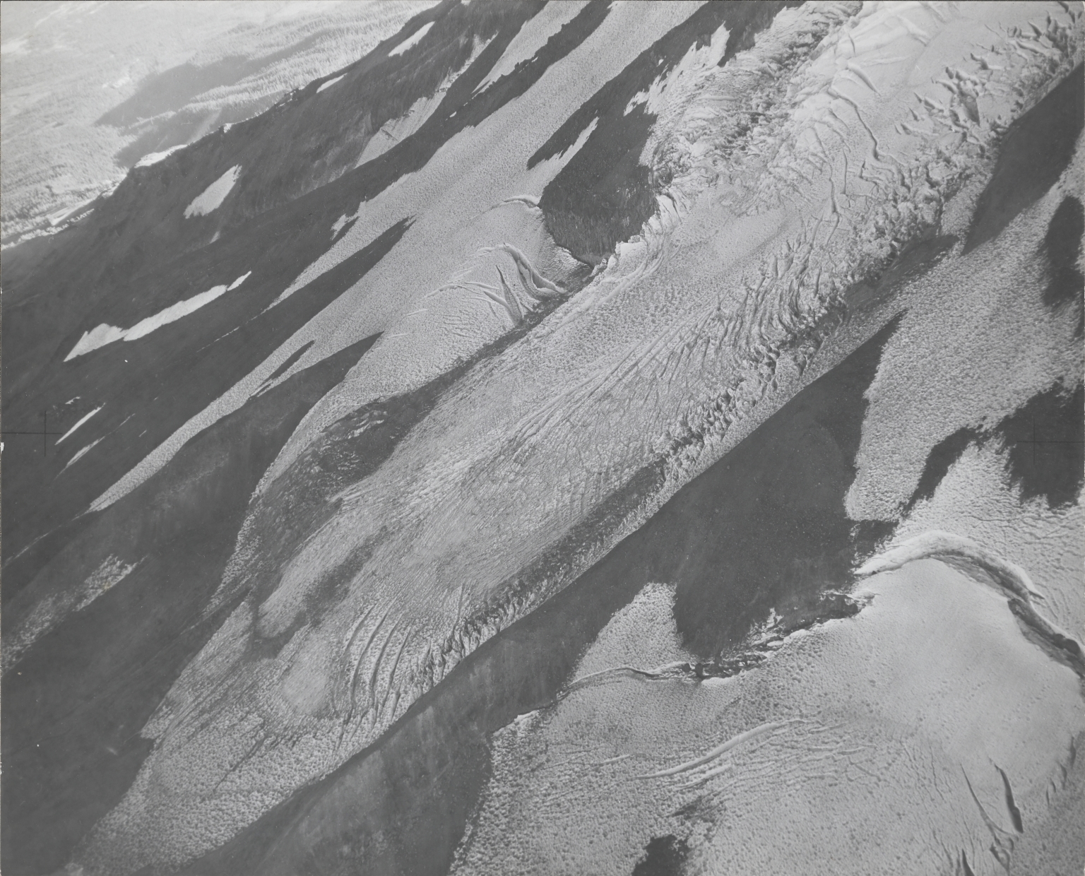 """Unknown glacier (""""Gravel Glacier"""") near Mount Shasta, California"""