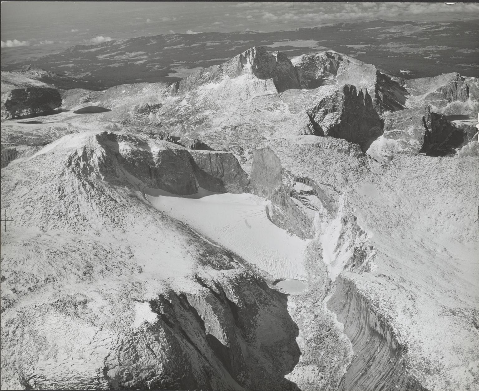 Wind River Glacier, aerial photograph roll no. 22 exposure no. 46, Wyoming
