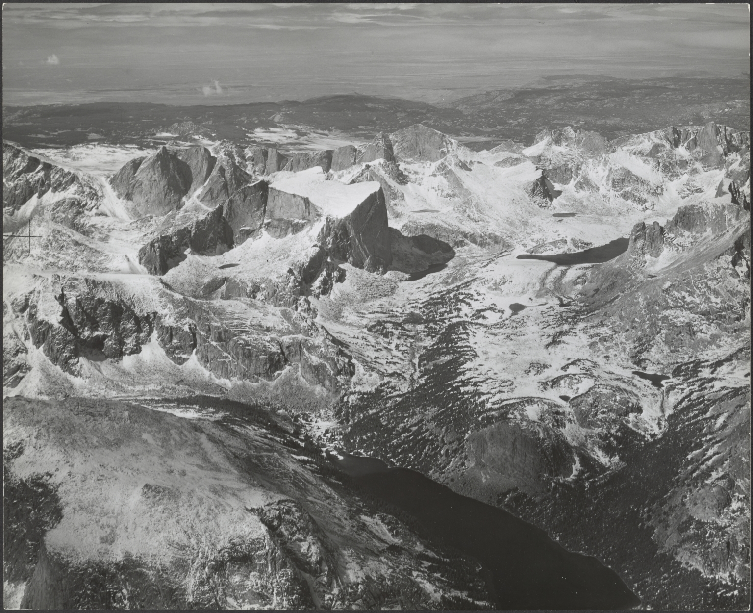 Glacier on Mount Hooker, aerial photograph roll no. 22 exposure no. 48, Wyoming