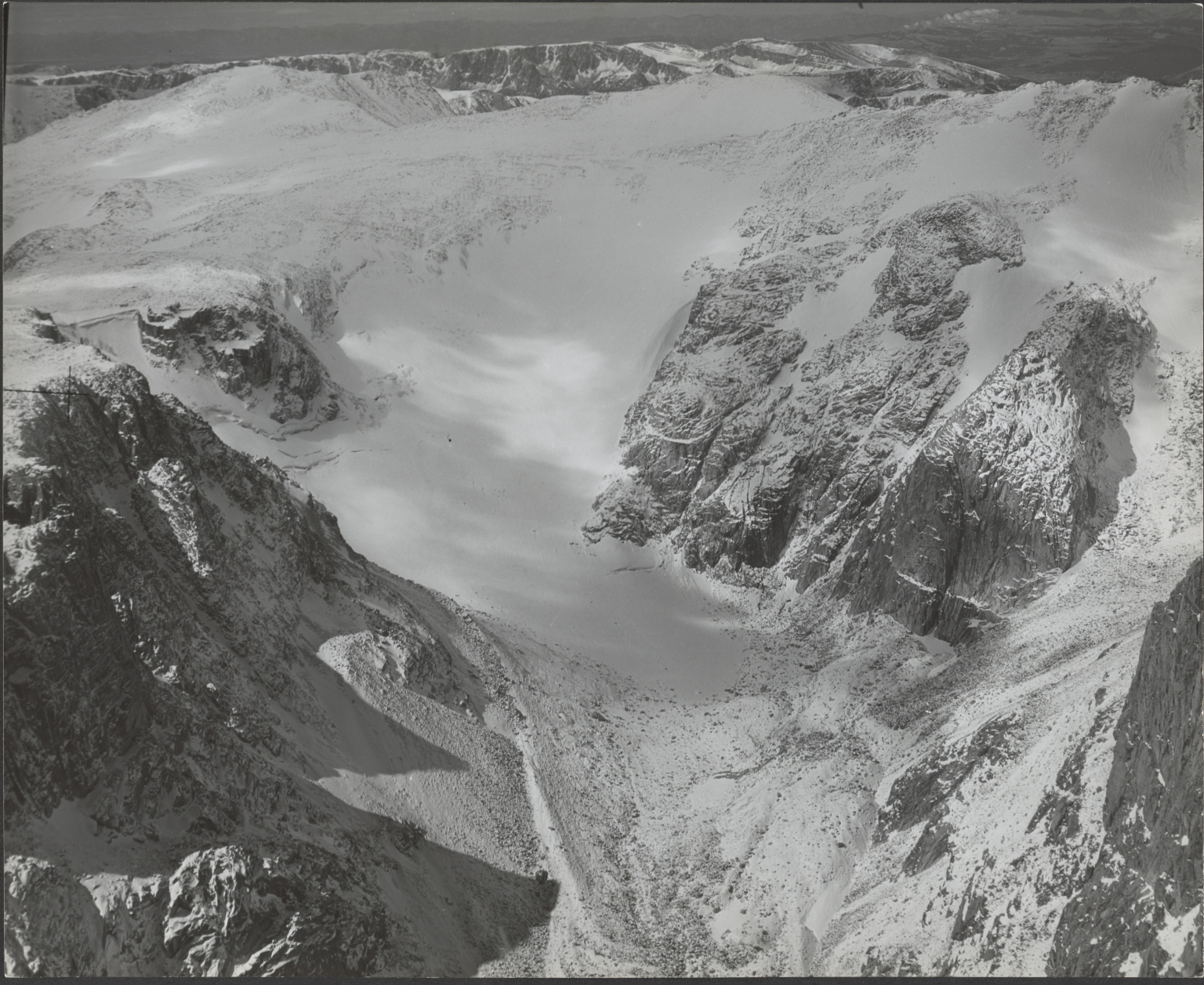 Glacier on Mount Downs, aerial photograph roll no. 22 exposure no. 68, Wyoming