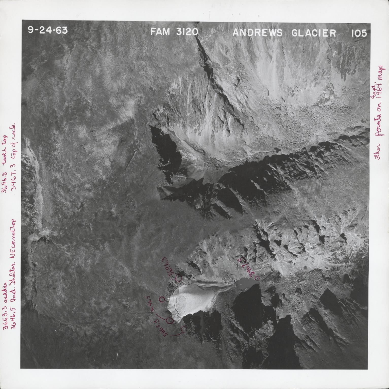 Andrews Glacier, aerial photograph FAM 3120 105, Colorado