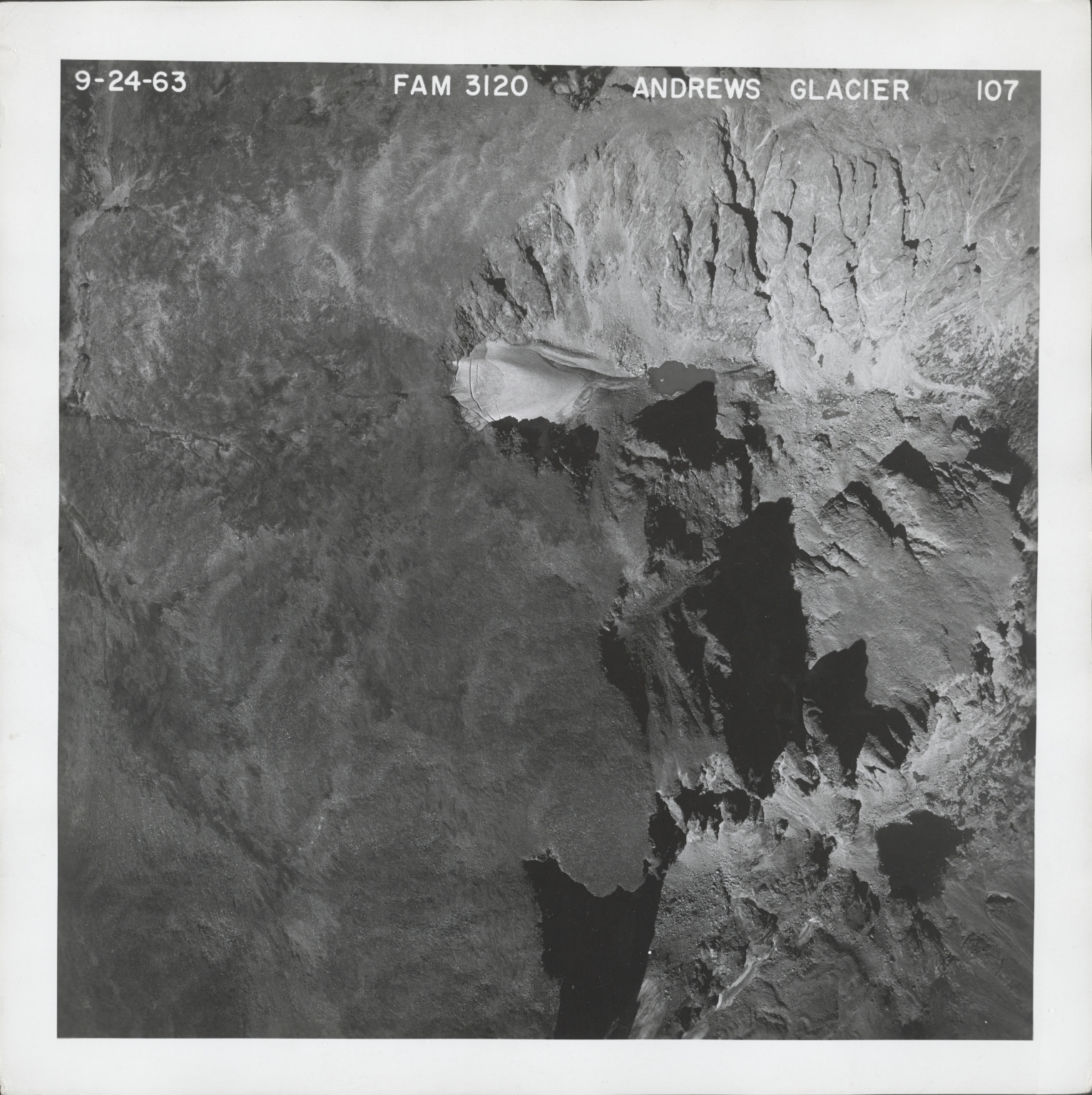 Andrews Glacier, aerial photograph FAM 3120 107, Colorado