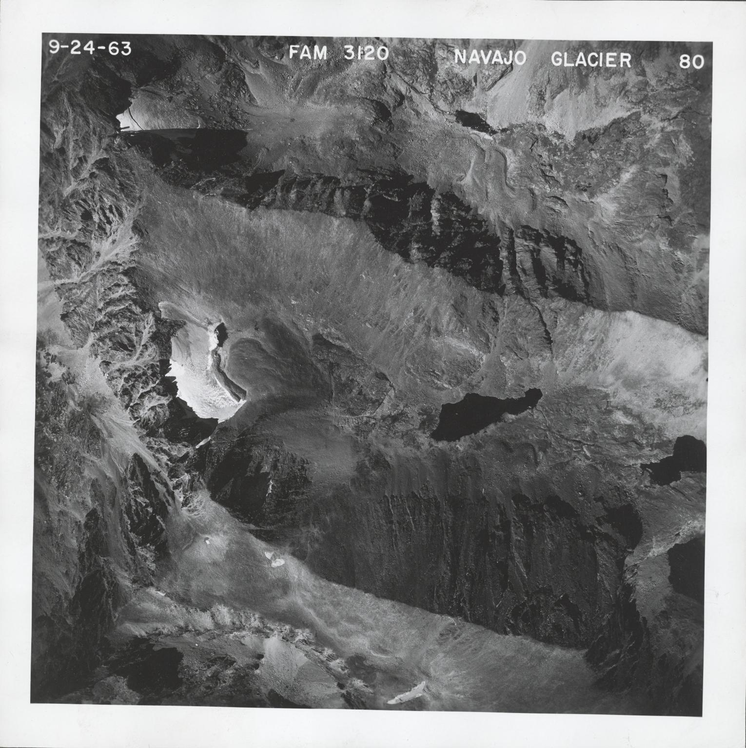 Navajo Glacier, aerial photograph FAM 3120 80, Colorado
