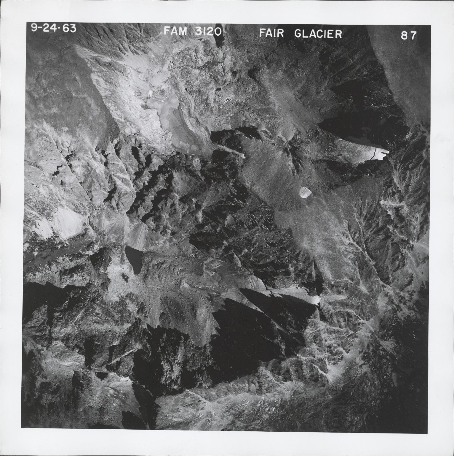 Fair Glacier, aerial photograph FAM 3120 87, Colorado
