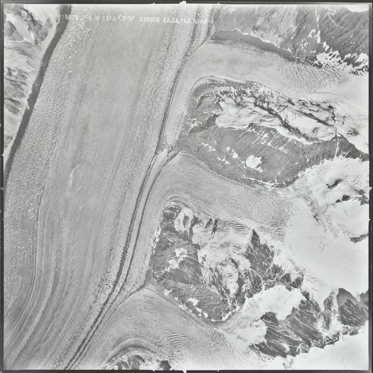 Kahilna Glacier, aerial photograph M131 A 130, Alaska