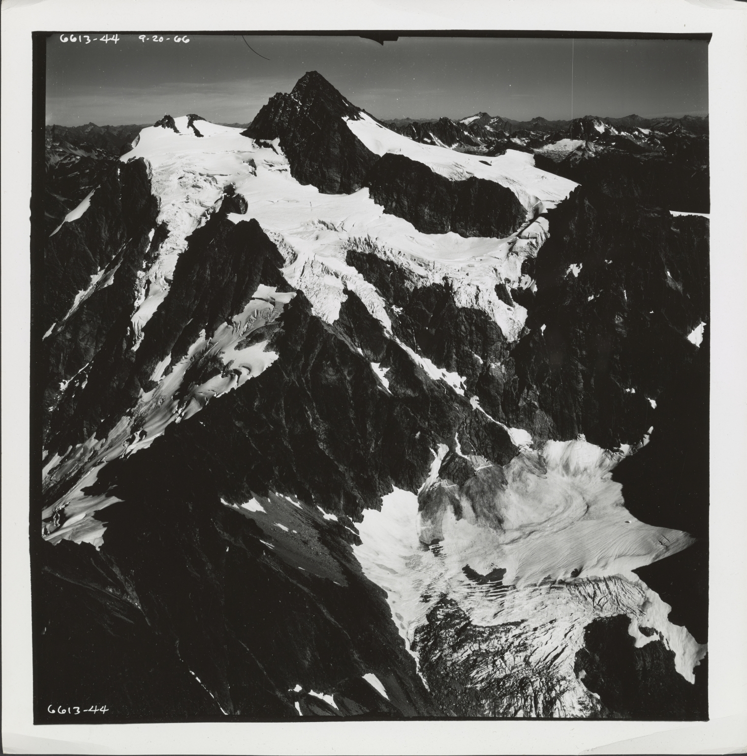 Glacier in North Cascades, aerial photograph 6613-44, Washington