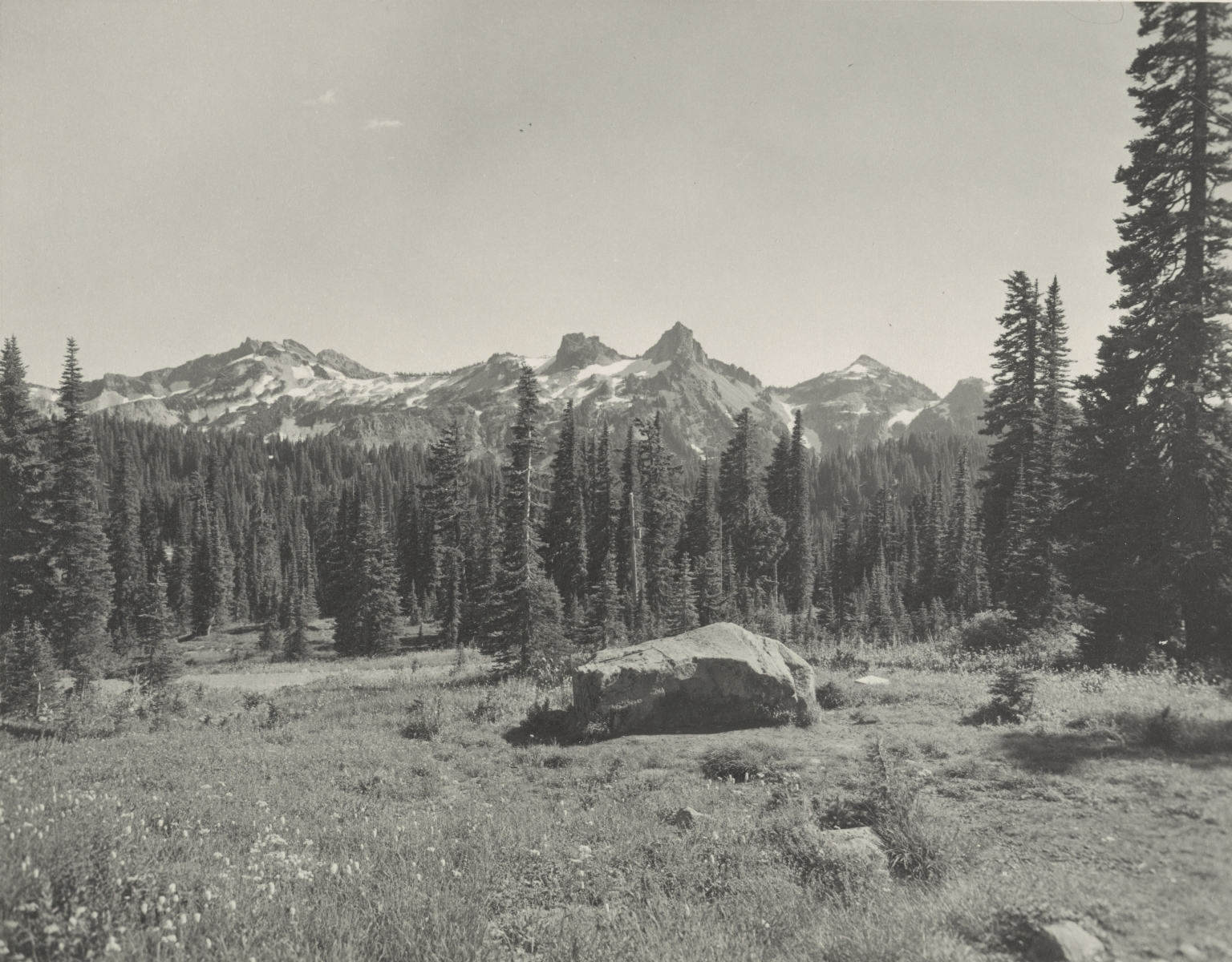 Tatoosh Range from Paradise Inn, Washington