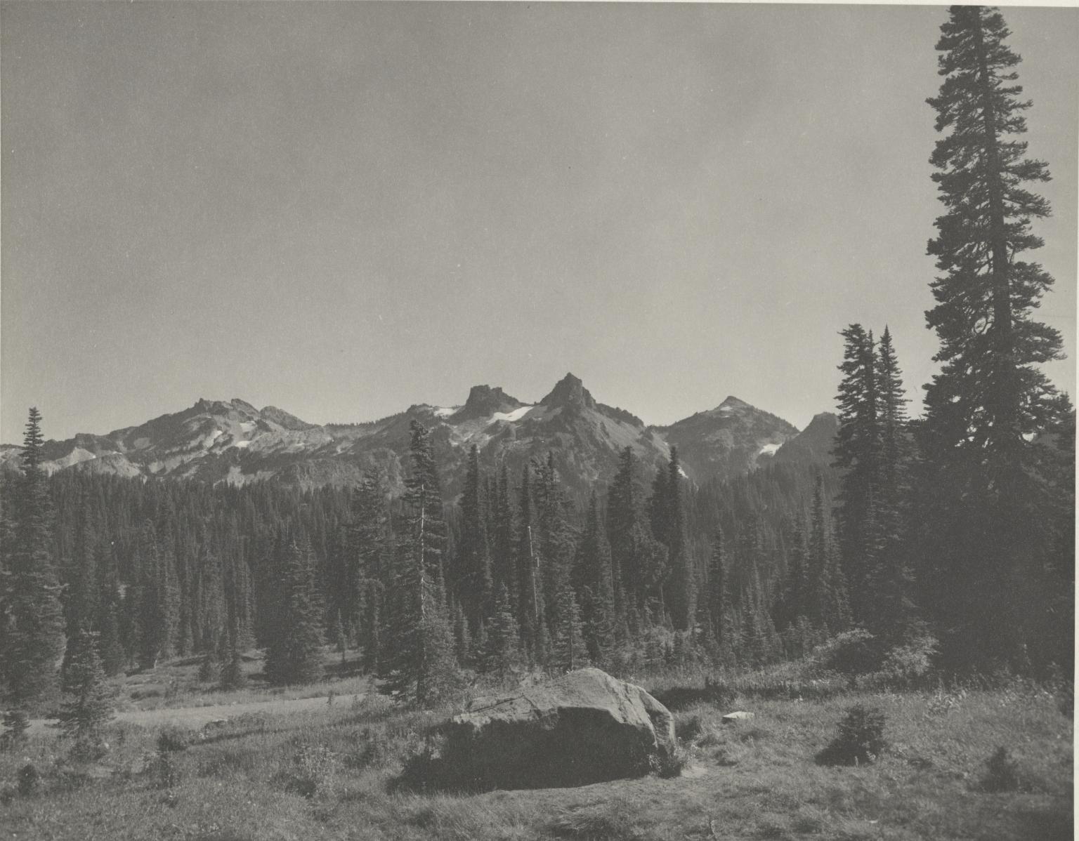 Tatoosh Range from Paradise Inn, Washington