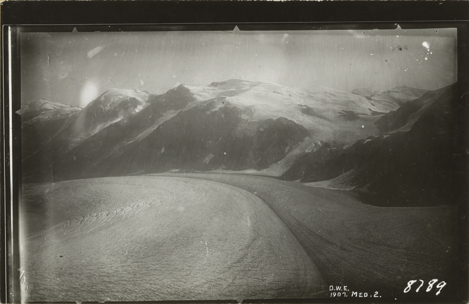 "Unknown glacier (""Bradfield Glacier""), border of Alaska and British Columbia"