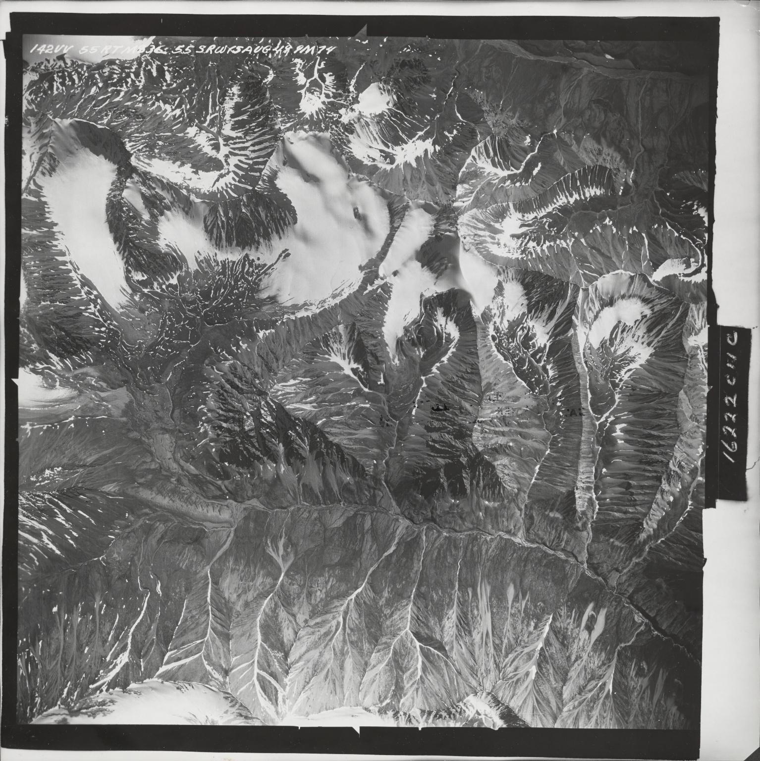 Talkeetna Mountains, aerial photograph M 836 142, Alaska