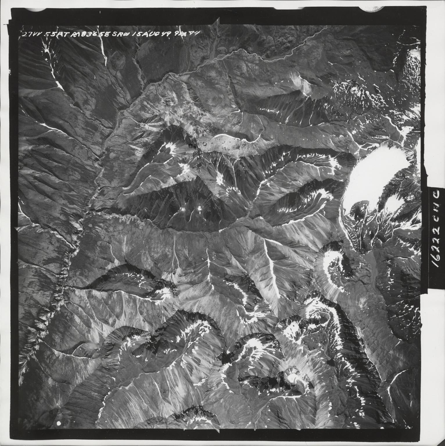 Talkeetna Mountains, aerial photograph M 836 27, Alaska