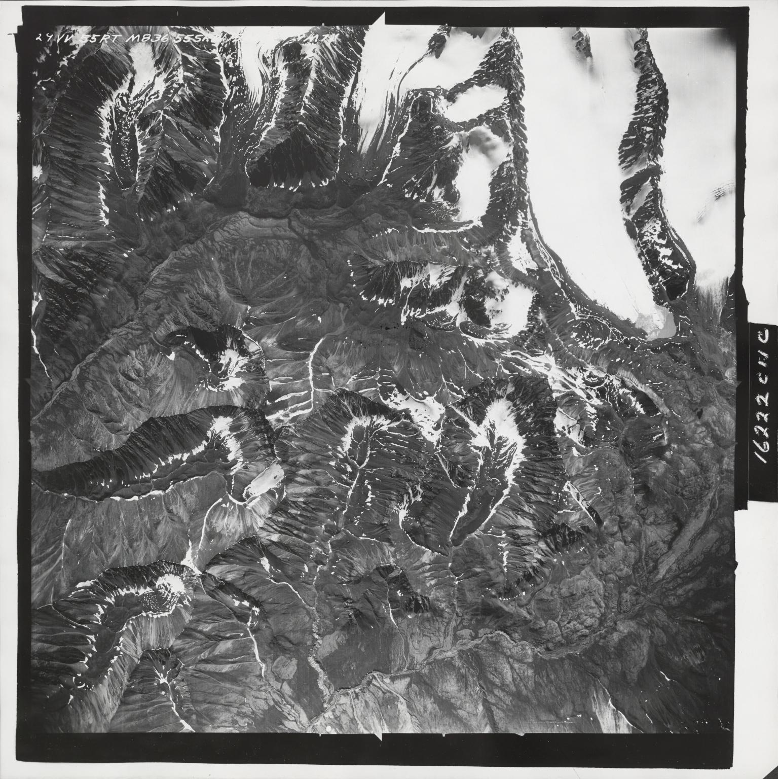 Yellowjacket Creek, aerial photograph M 836 29, Alaska