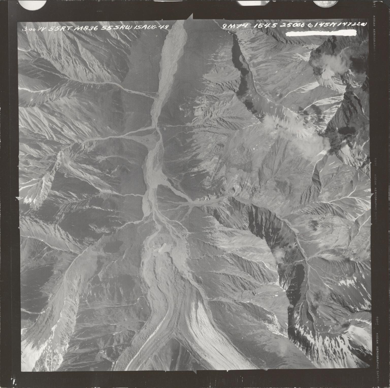 Talkeetna Mountains, aerial photograph M 836 300, Alaska