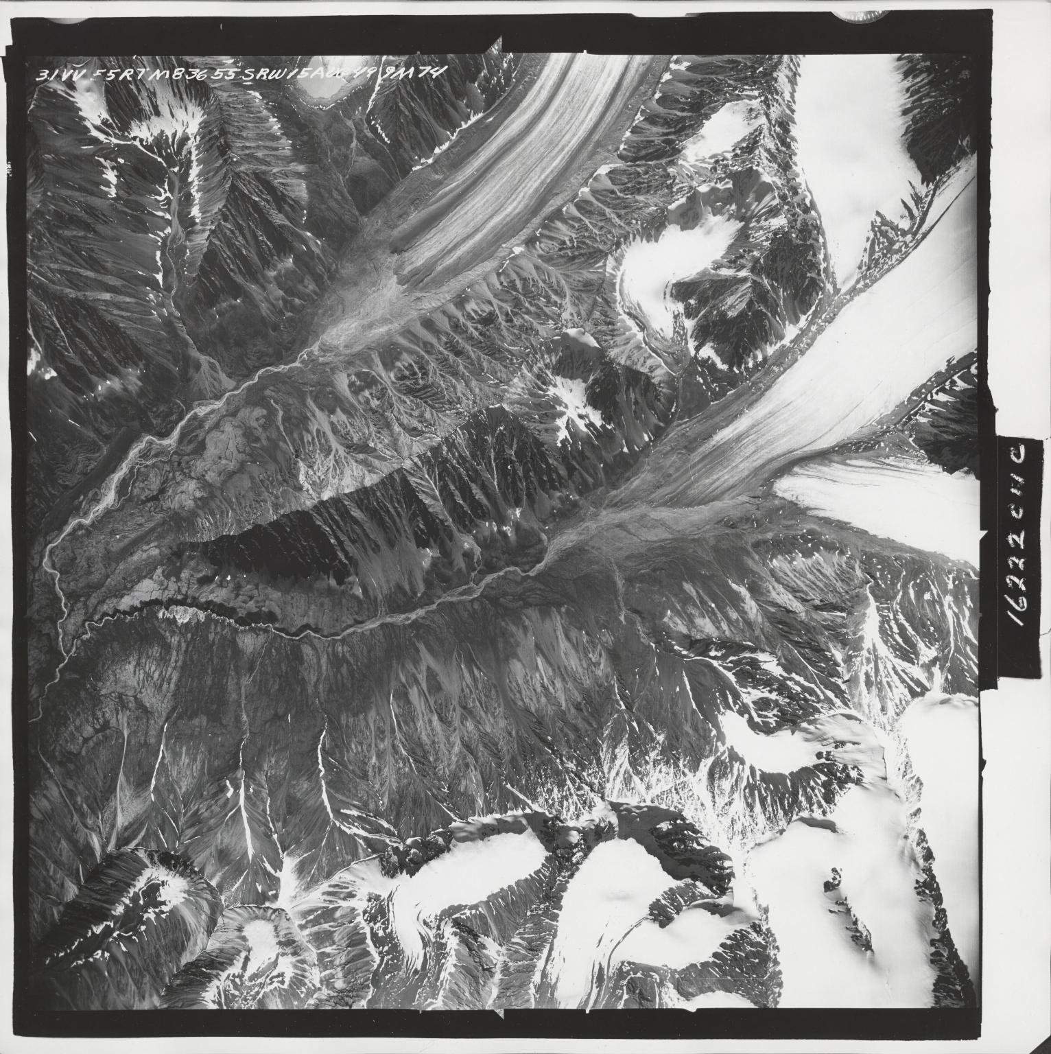 Sovereign Mountain, aerial photograph M 836 31, Alaska