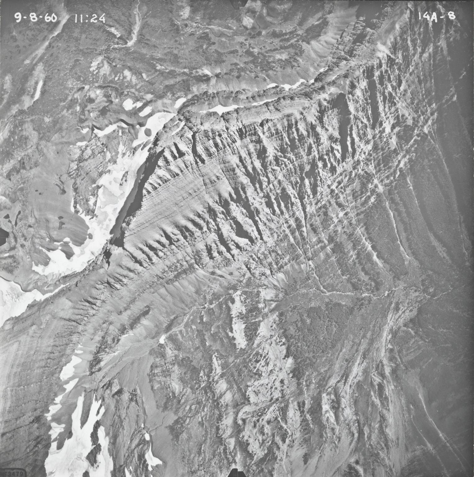 Red Eagle Glacier, aerial photograph FL14A-8, Montana