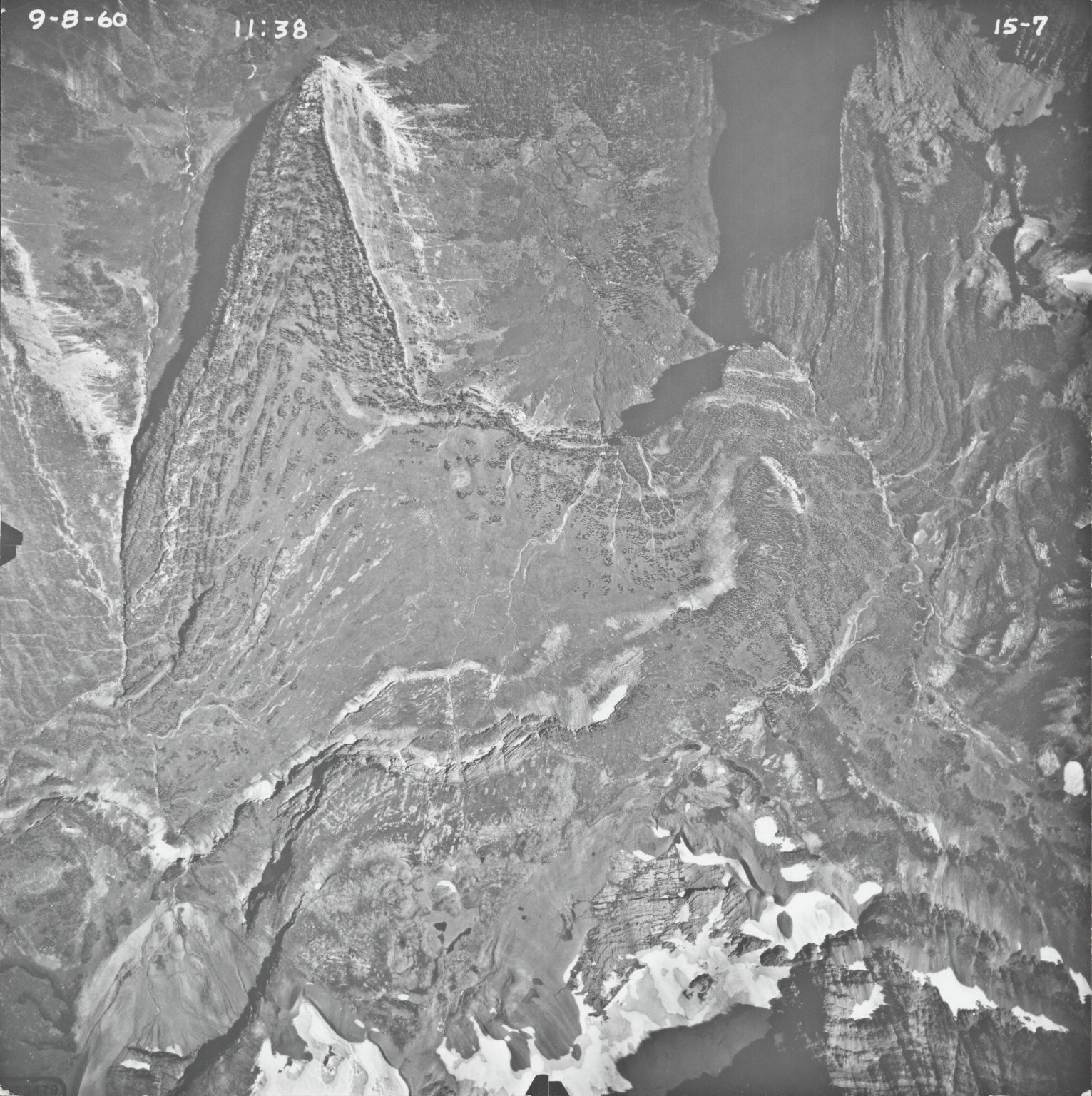 Logan Glacier, aerial photograph FL15-7, Montana