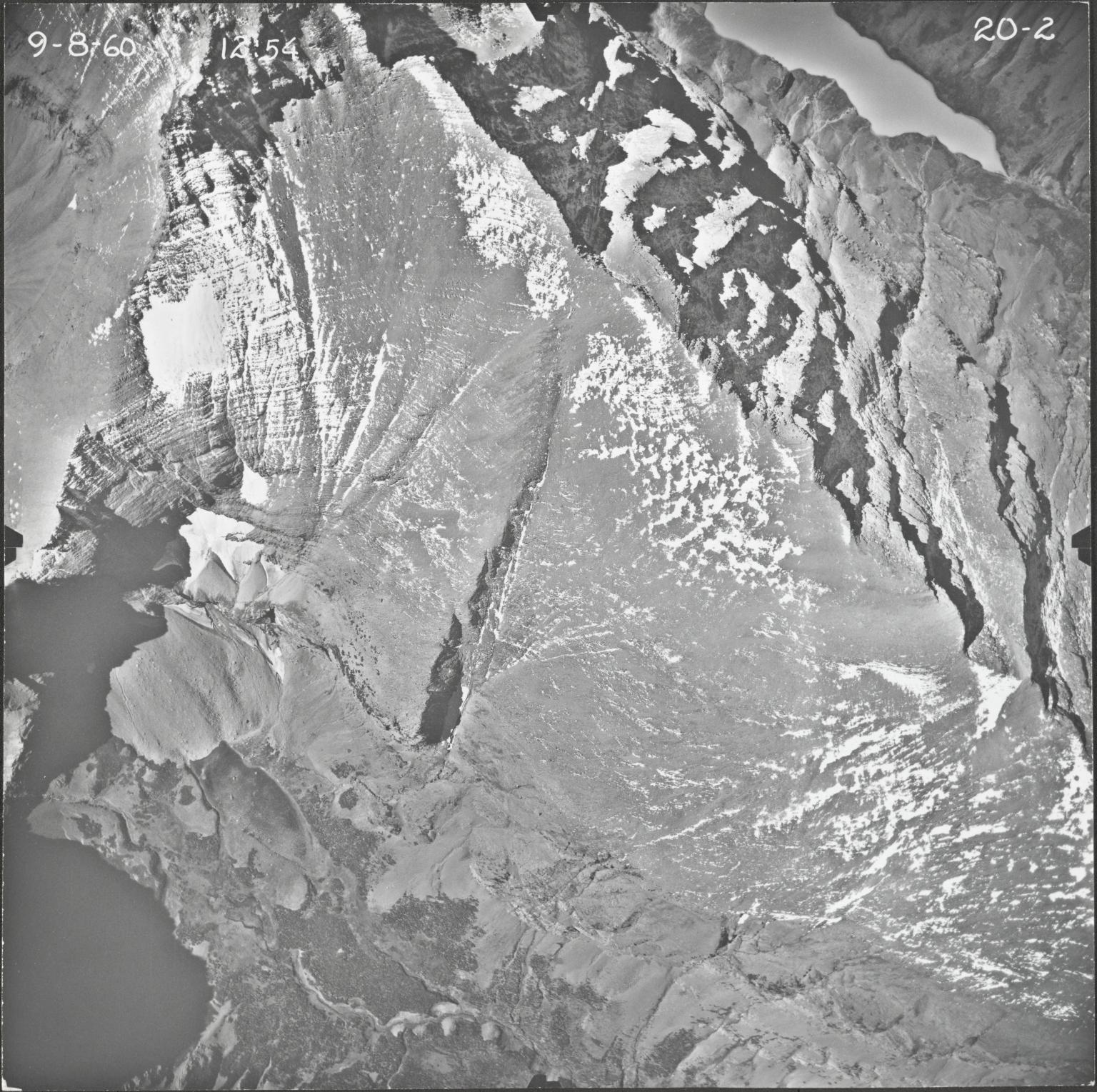 Siyeh Glacier, aerial photograph 20-2, Montana
