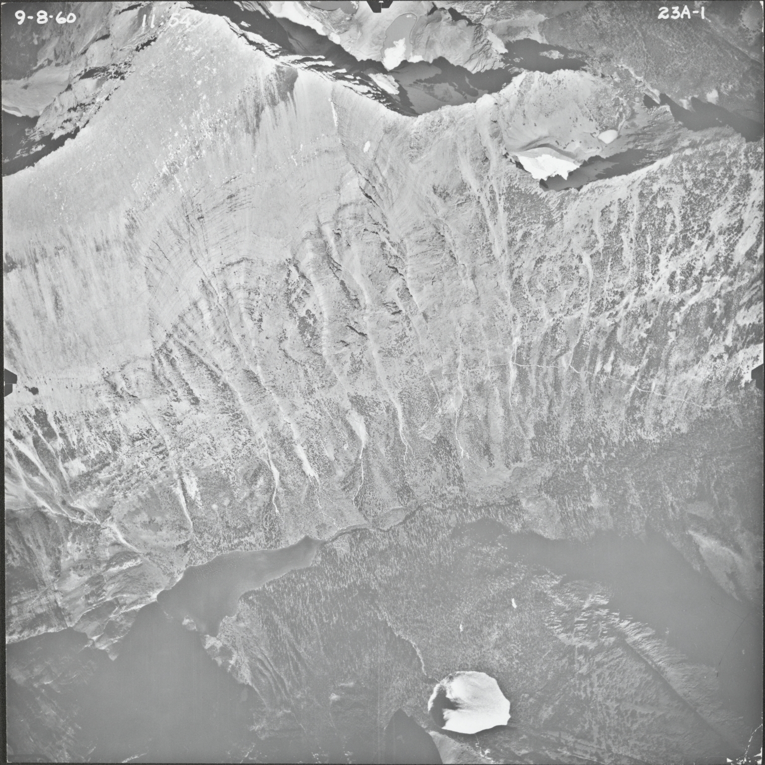 Mount James and Atlantic Creek, aerial photograph 23A-1, Montana