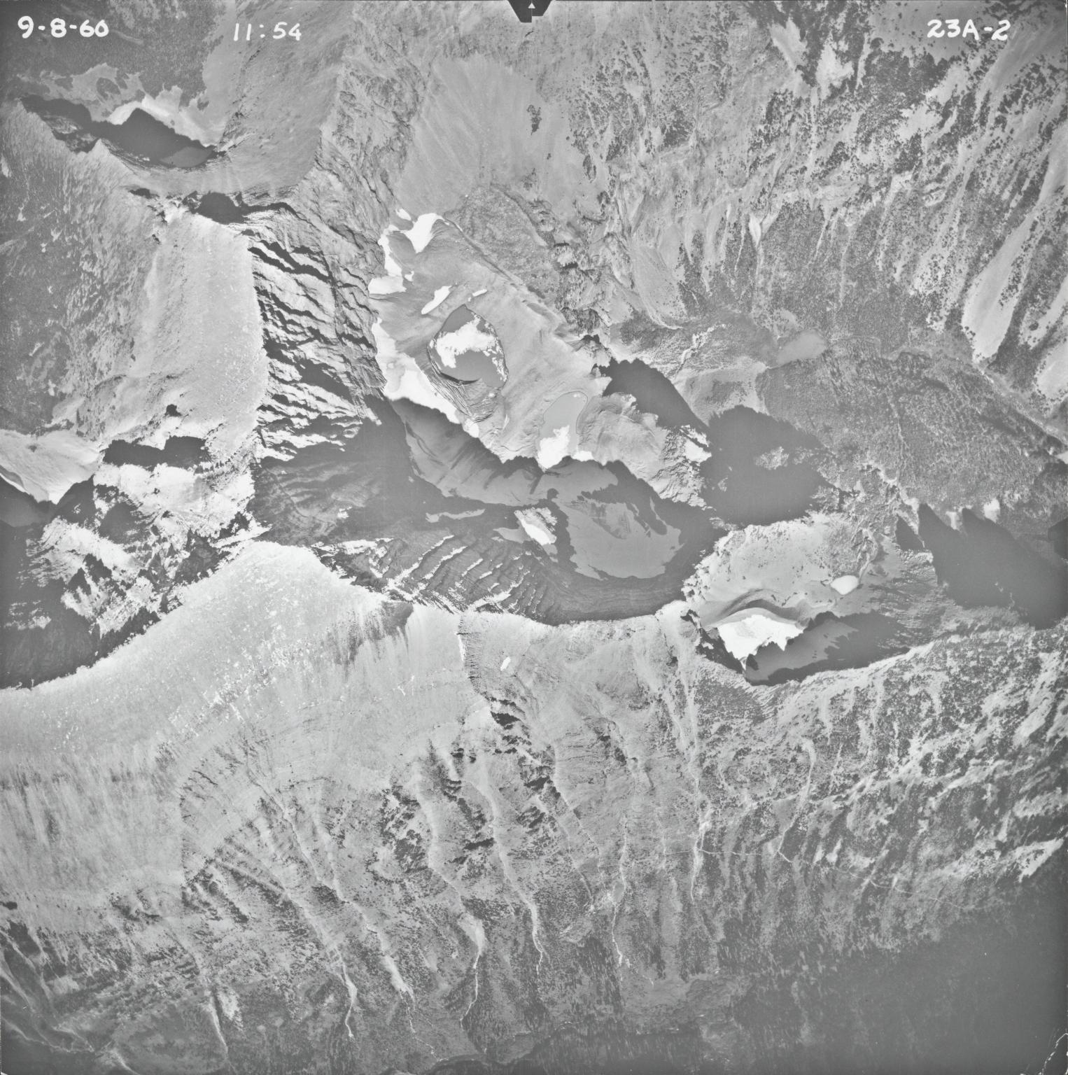Mount James, aerial photograph 23A-2, Montana