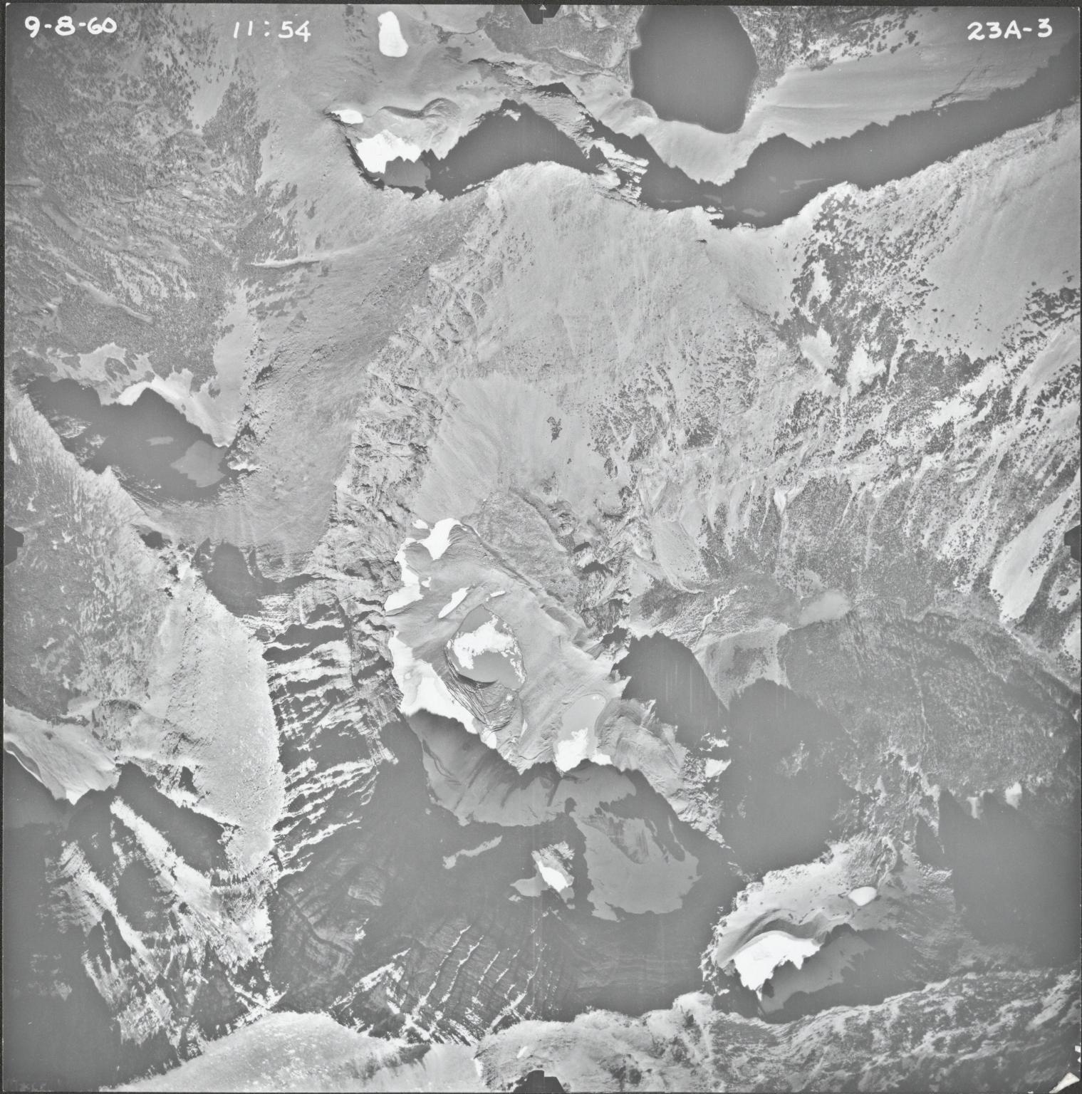 Mount James, aerial photograph 23A-3, Montana