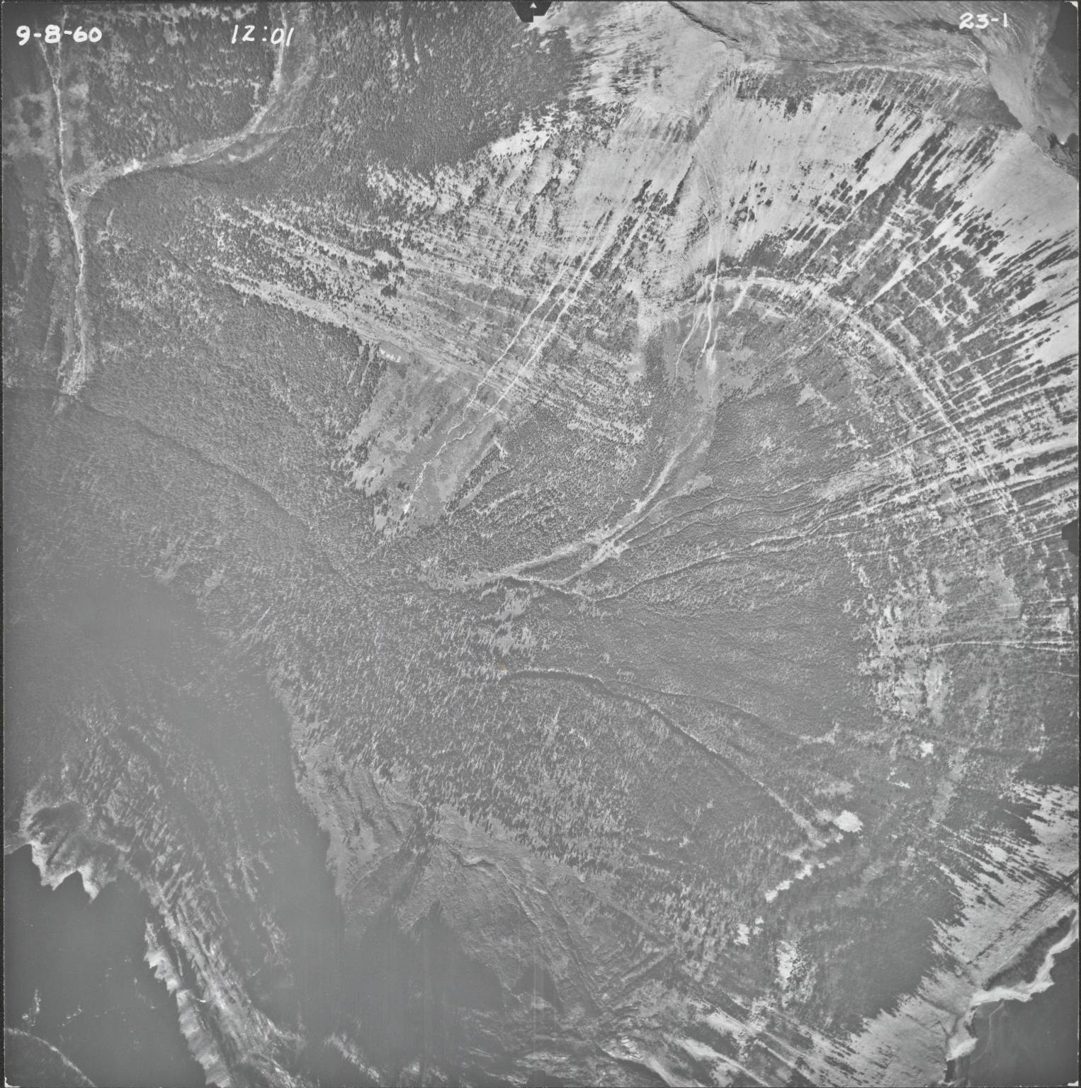 Razoredge Mountain and Tinkham Mountain, aerial photograph 23-1, Montana