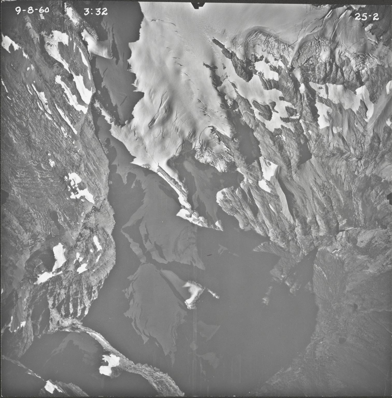 Harrison Glacier, aerial photograph 25-2, Montana