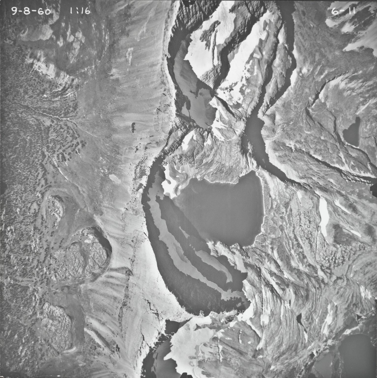 Shepard Glacier, aerial photograph 6-11, Montana