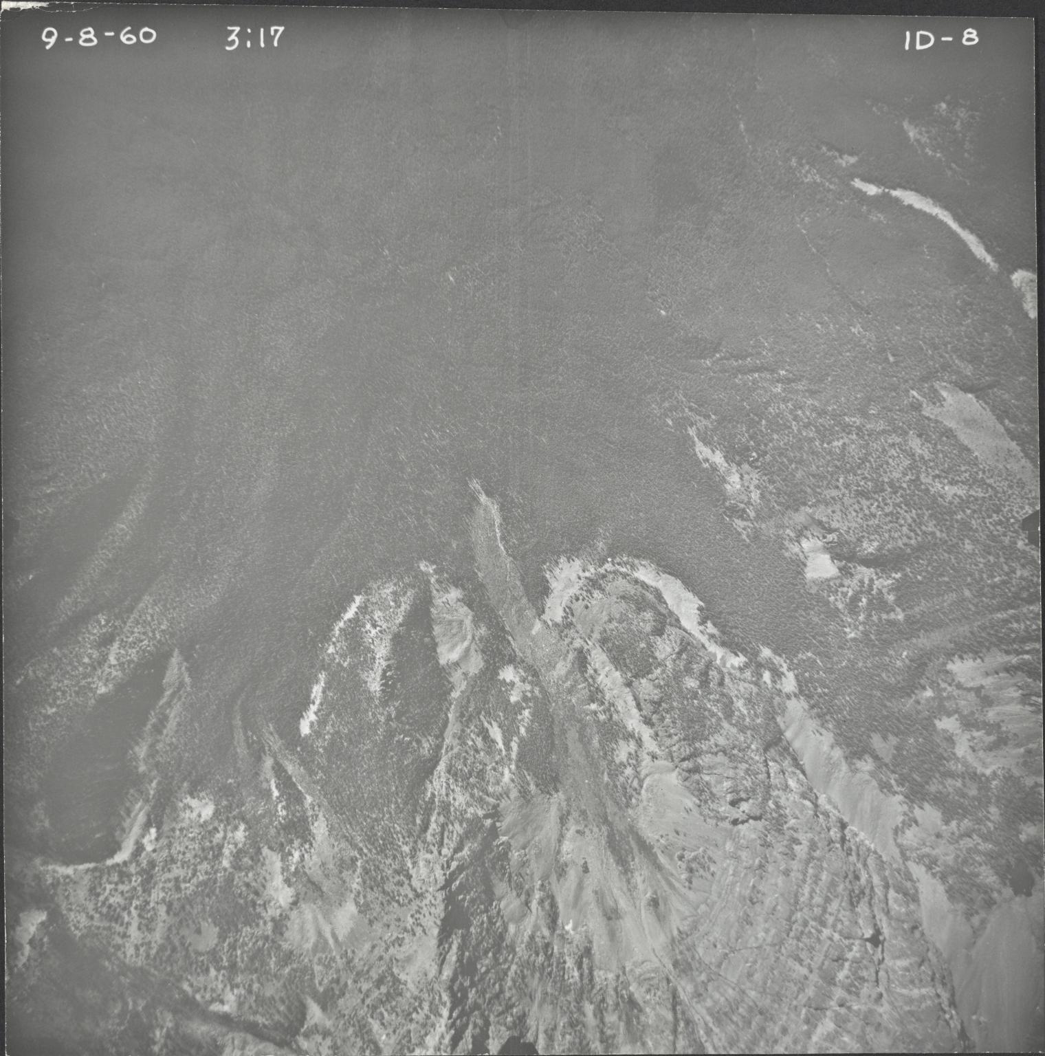 No glacier, aerial photograph FL ID-8, Montana