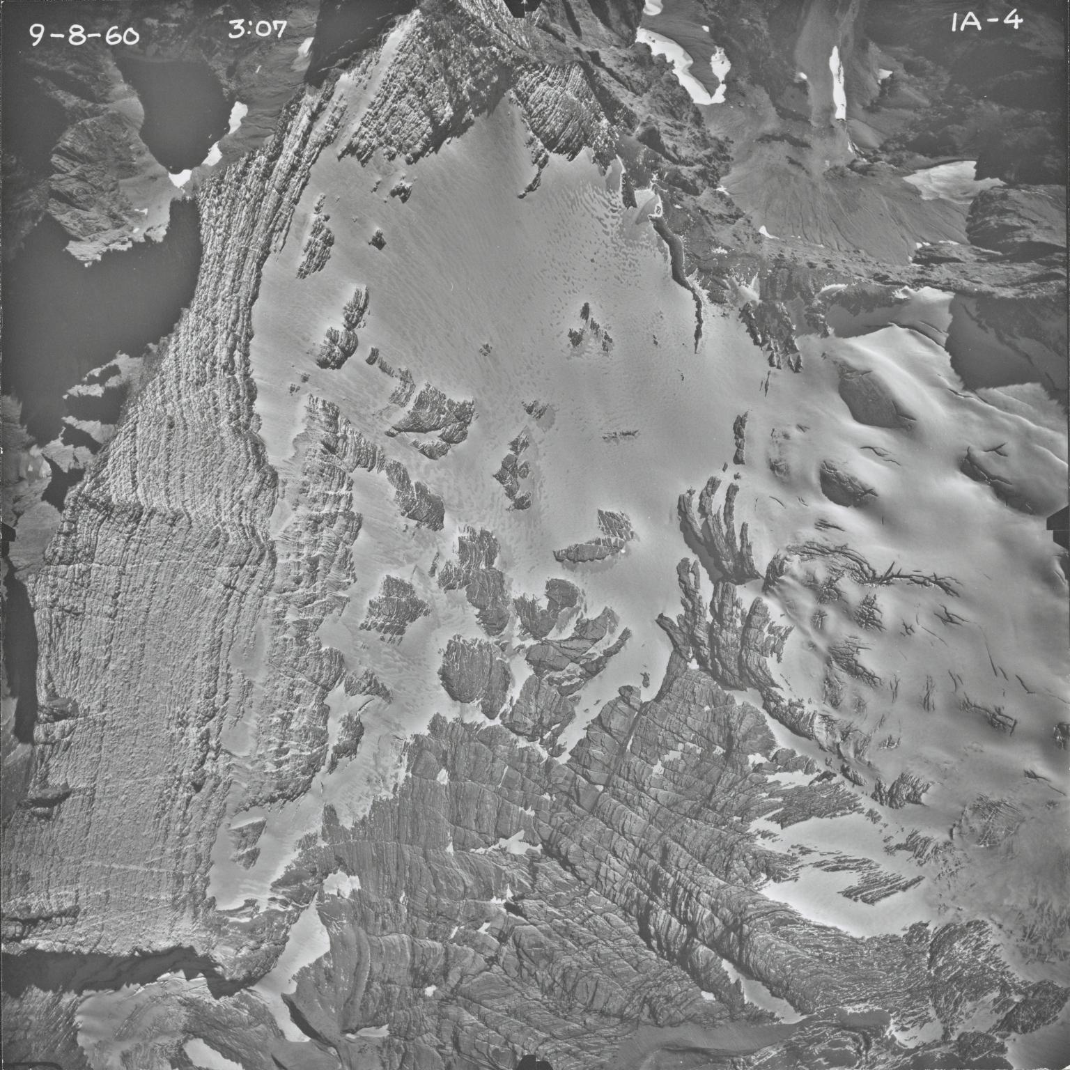 Agassiz Glacier, aerial photograph IA-4, Montana