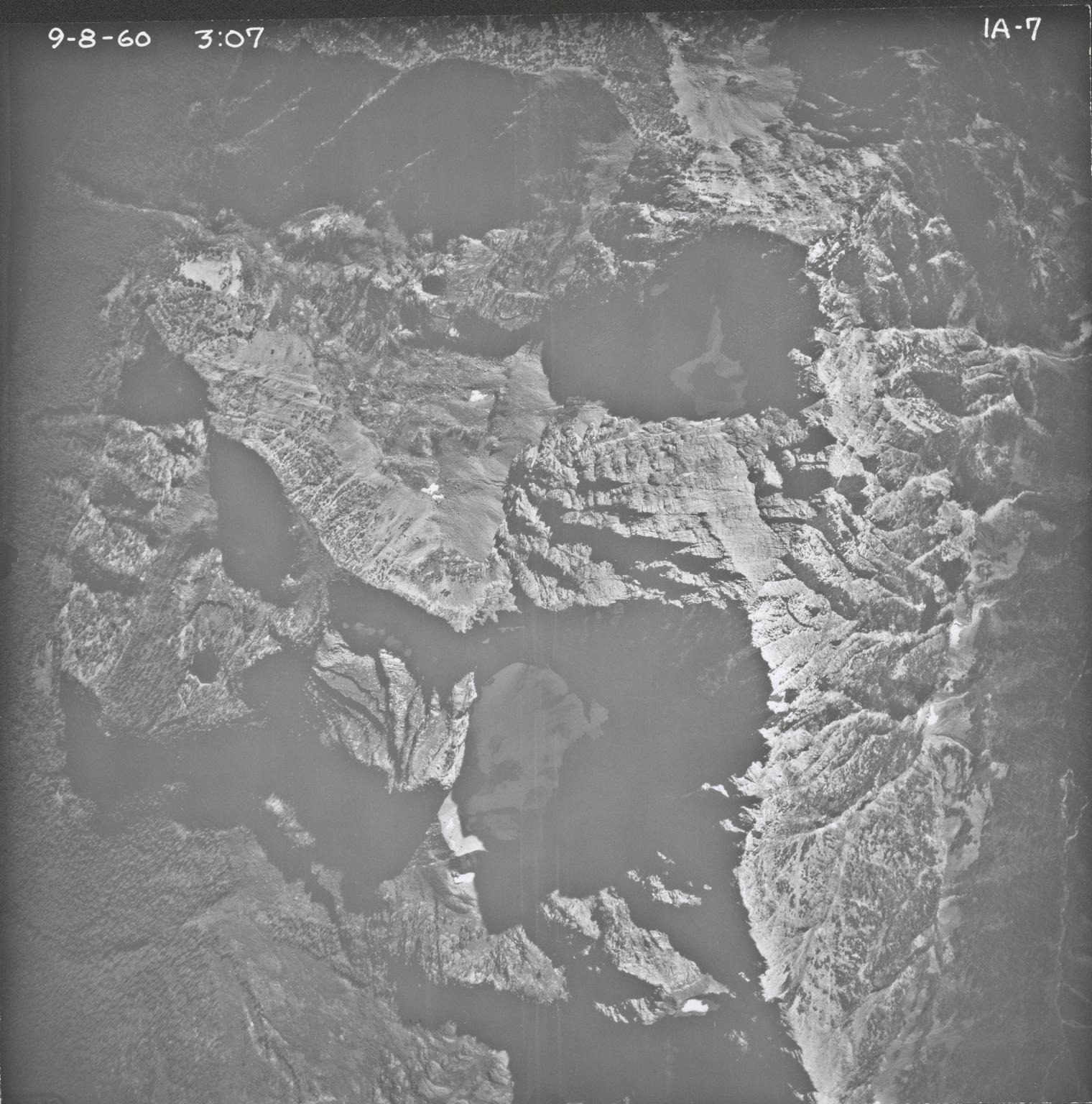 Baby Glacier, aerial photograph IA-7, Montana