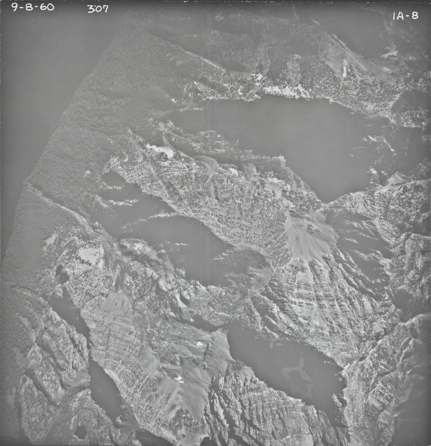 Agassiz Glacier, aerial photograph IA-8, Montana