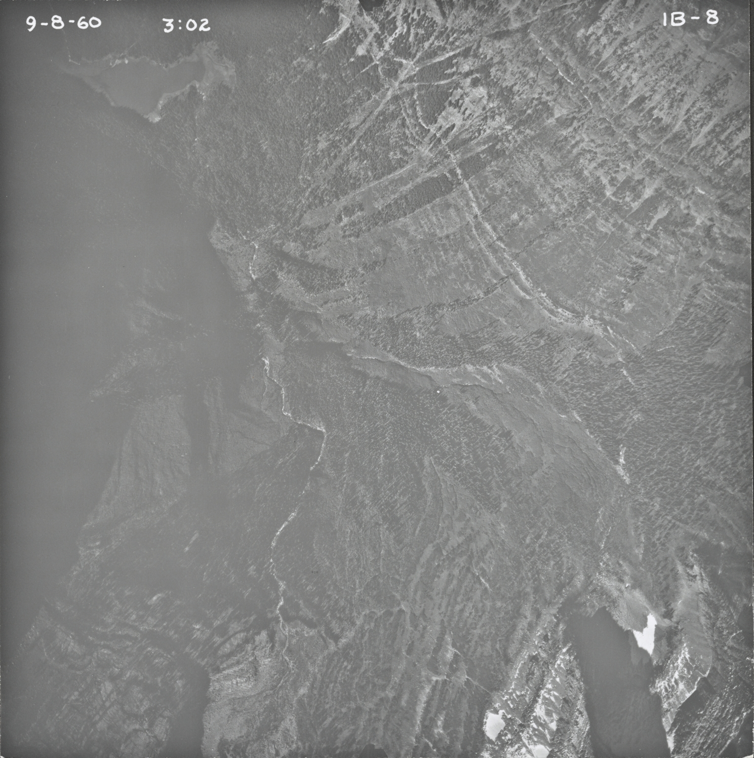 Agassiz Glacier, aerial photograph IB-8, Montana