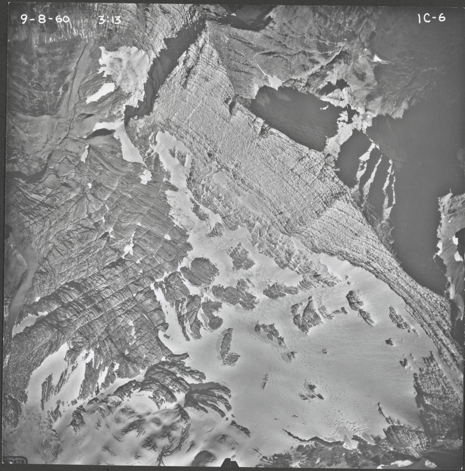 Agassiz Glacier, aerial photograph IC-6, Montana