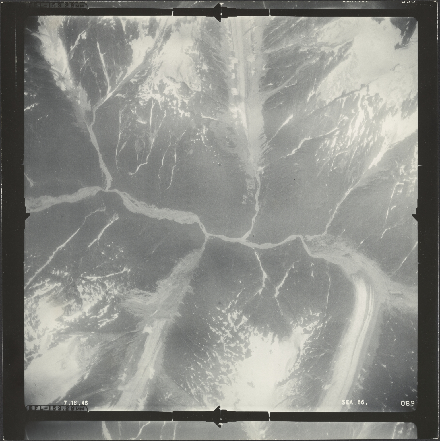 Leduc Glacier, aerial photograph SEA 86-089, British Columbia